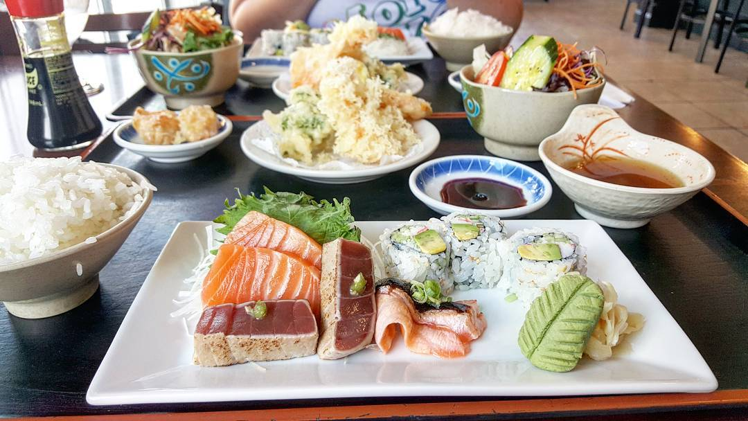 A lunch combo at Ebi Sushi