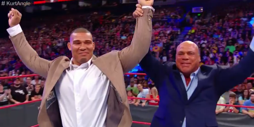 Image result for Kurt Angle Reveals Jason Jordan As His Illegitimate Child