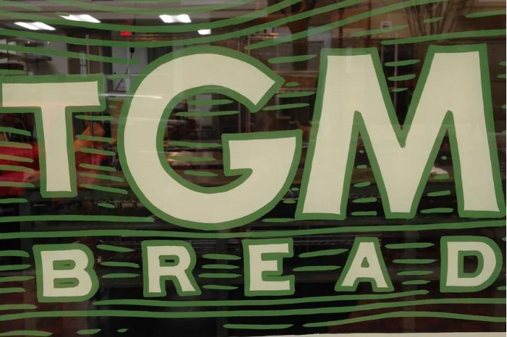 TGM Bread signage.