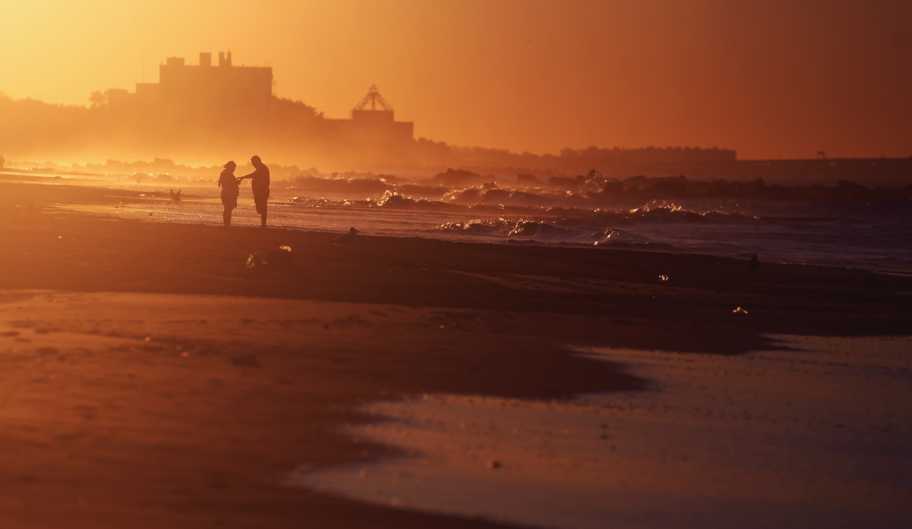 Coney Island Wakes To Calm One Day After Hurricane Irene