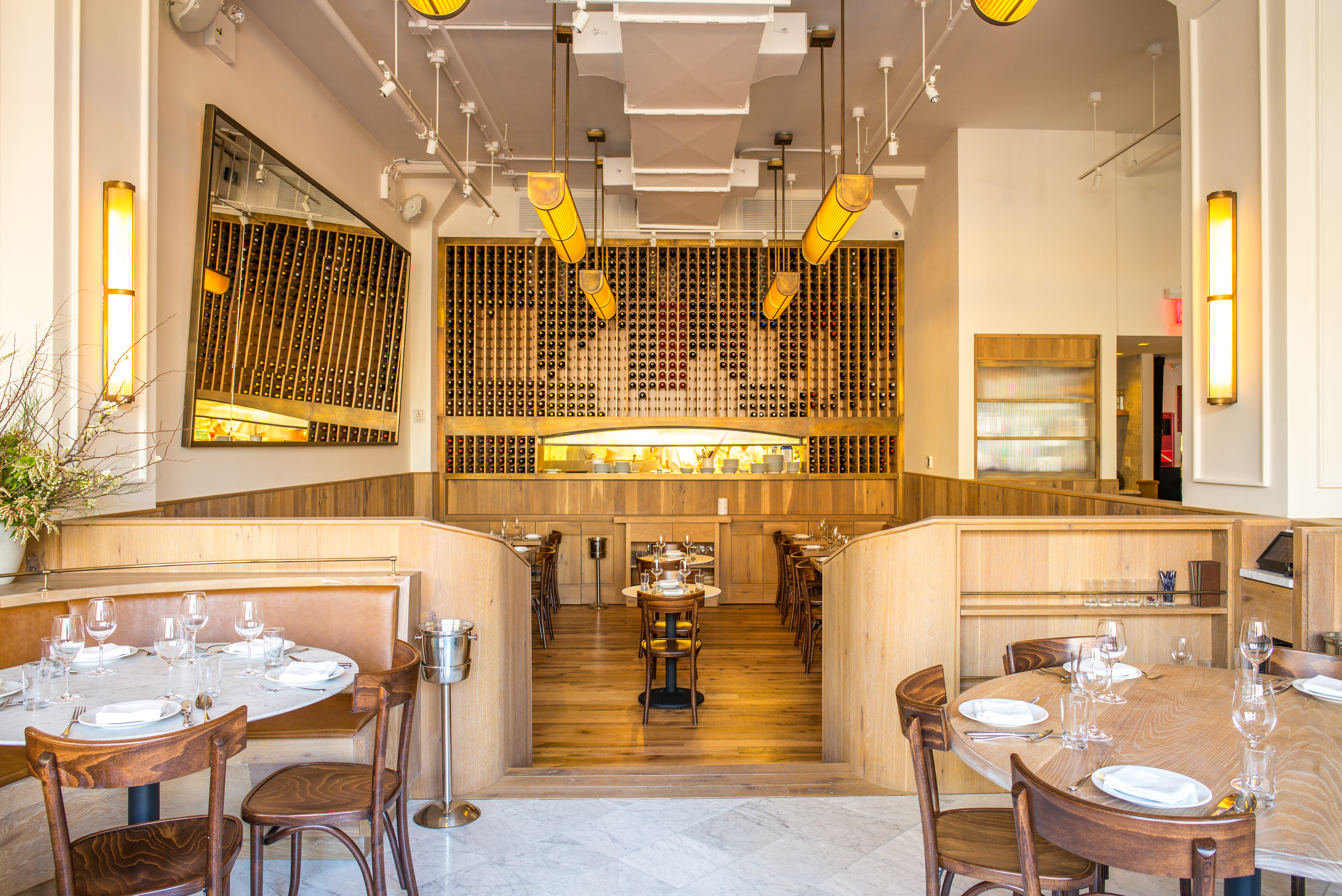 Cafe Altro Paradiso's high-ceilinged dining room