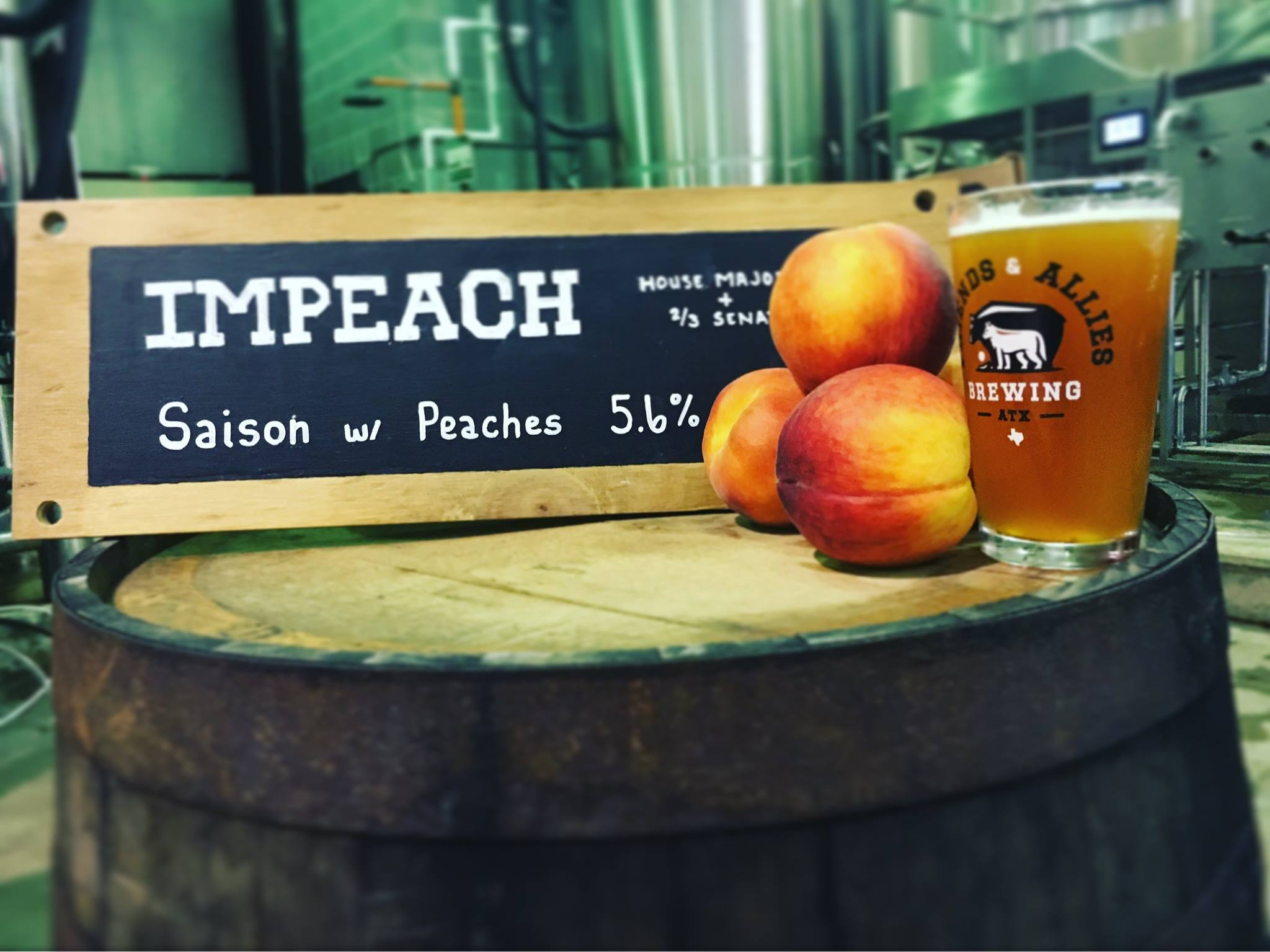 Friends and Allies Brewing's ImPeach beer