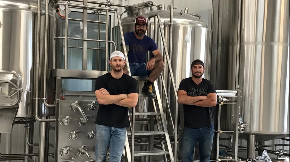 Family Business Beer Co.'s team, including Jensen Ackles