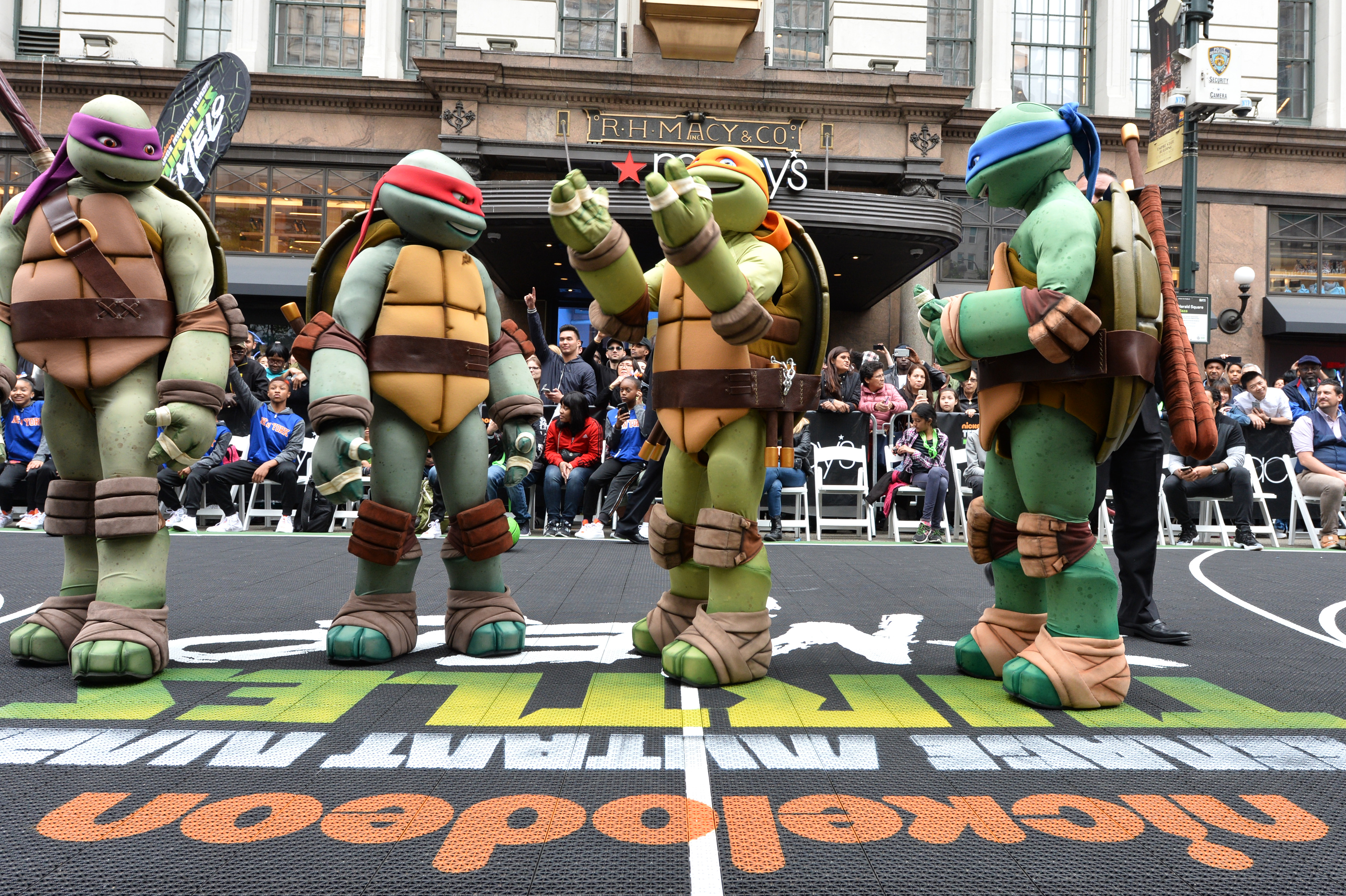 Macy's Welcomes Carmelo Anthony To Herald Square For The Launch Of TMNT X Melo