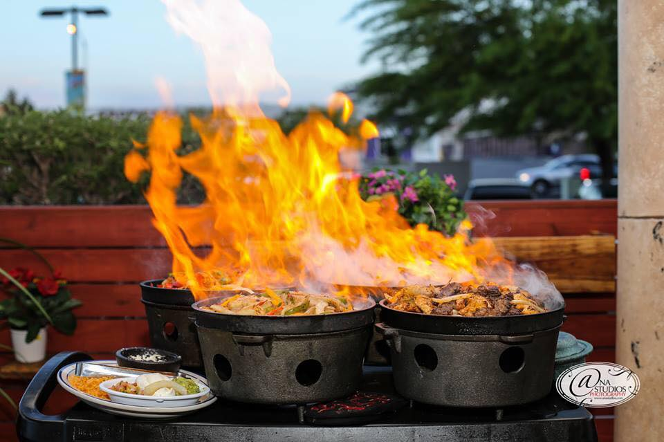 Flames jump from the sizzling dishes at local favorite Juan's Flaming Fajitas & Cantina, now expanding to Aliante.