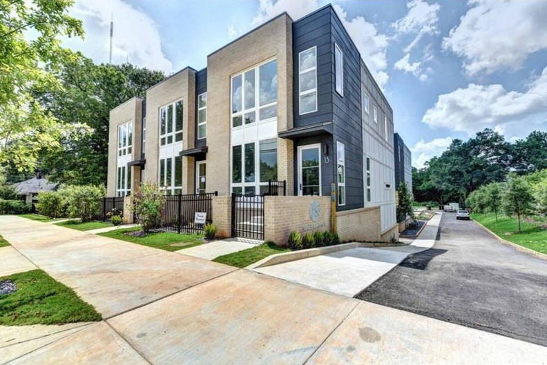 A new group of townhomes in Edgewood Atlanta.