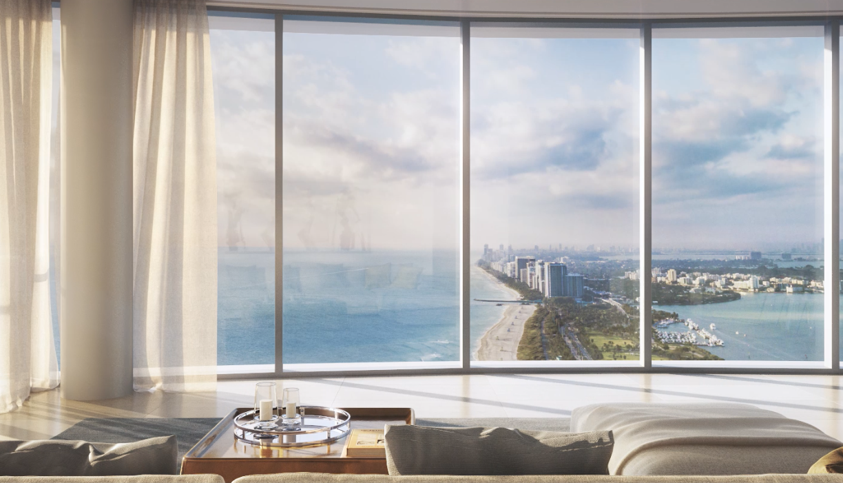 A screenshot from a video rendering of the Ritz-Carlton Sunny Isles Beach