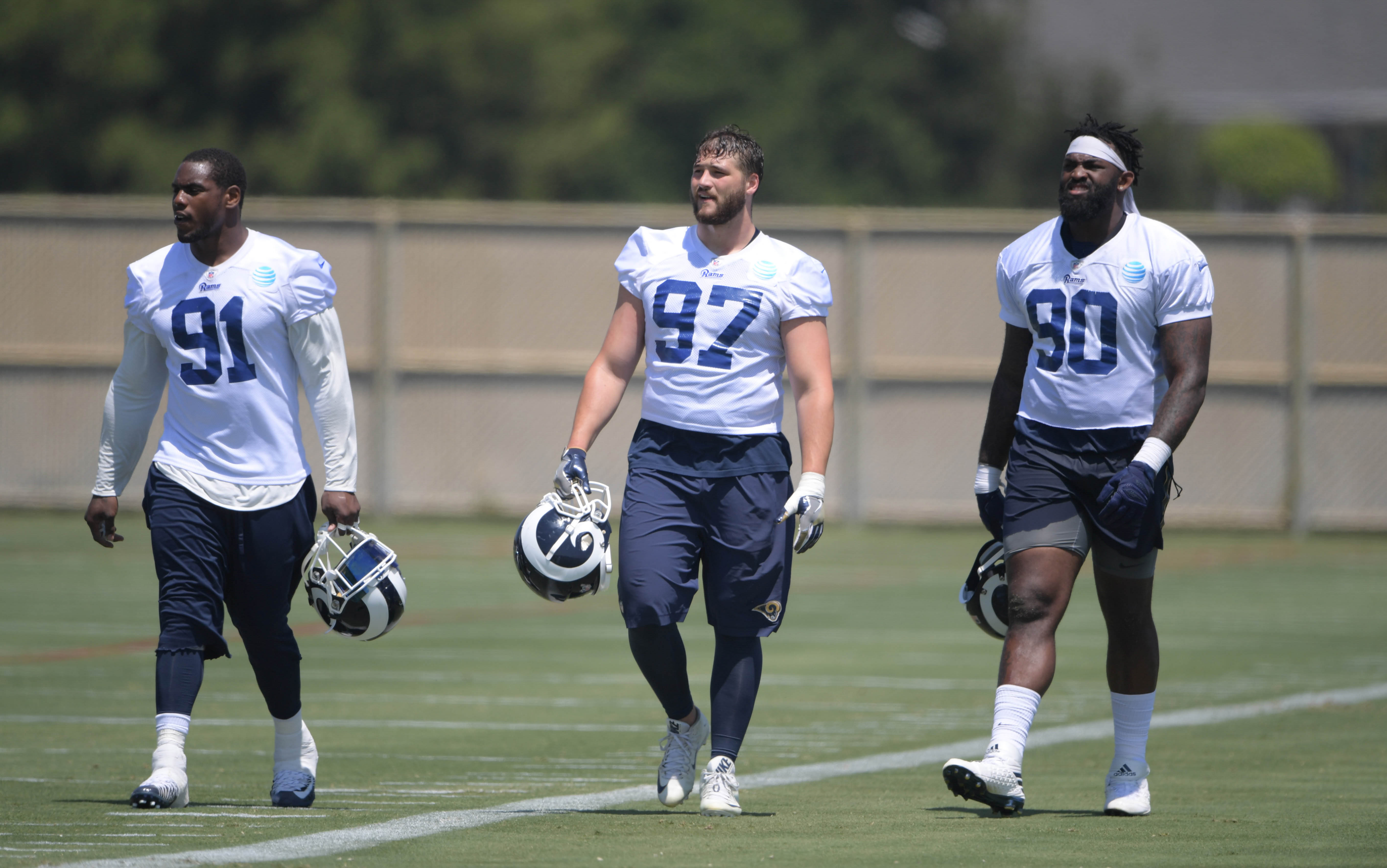 Los Angeles Rams DLs Dominique Easley, Morgan Fox & Michael Brockers