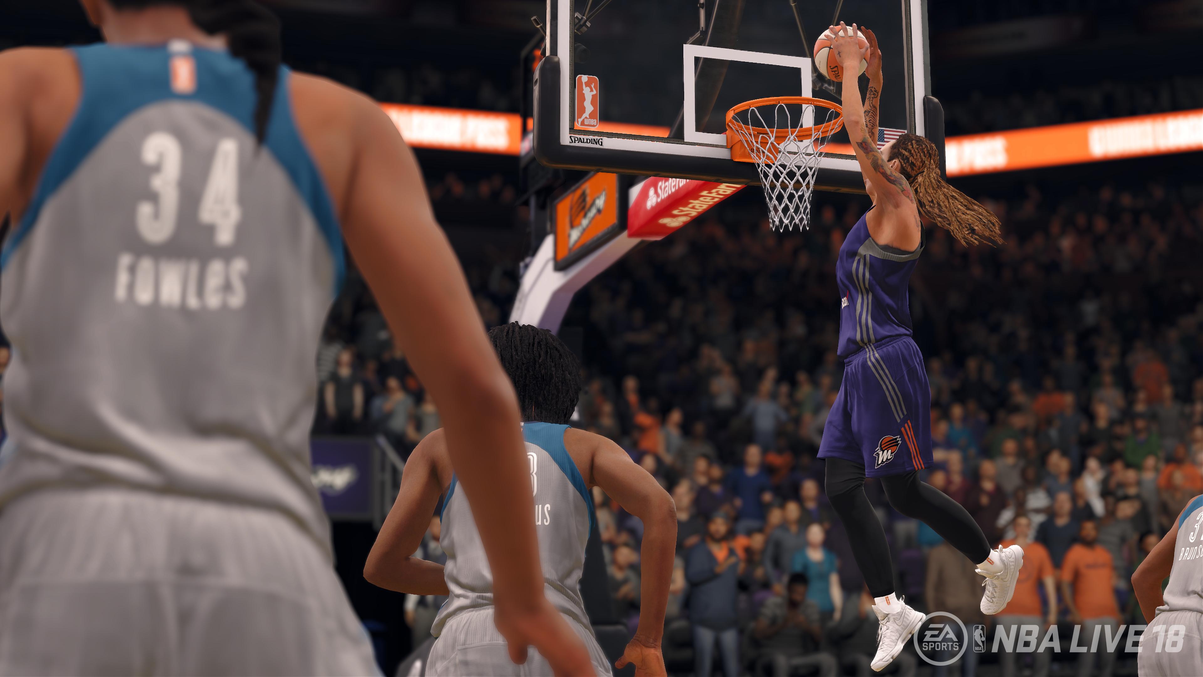 LAS JUGADORAS DE LA WNBA LLEGAN A NBA LIVE 18