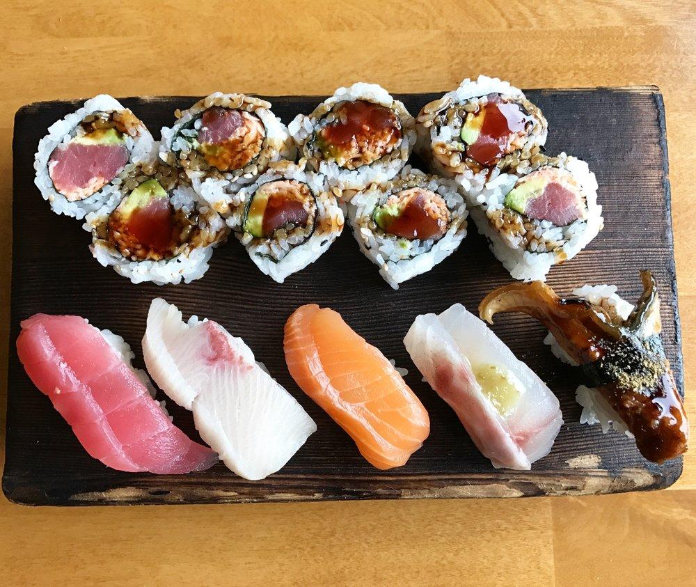 Sushi and sashimi at Kome