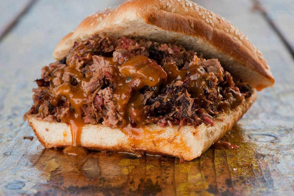 Barbecue sandwich from Salt Lick