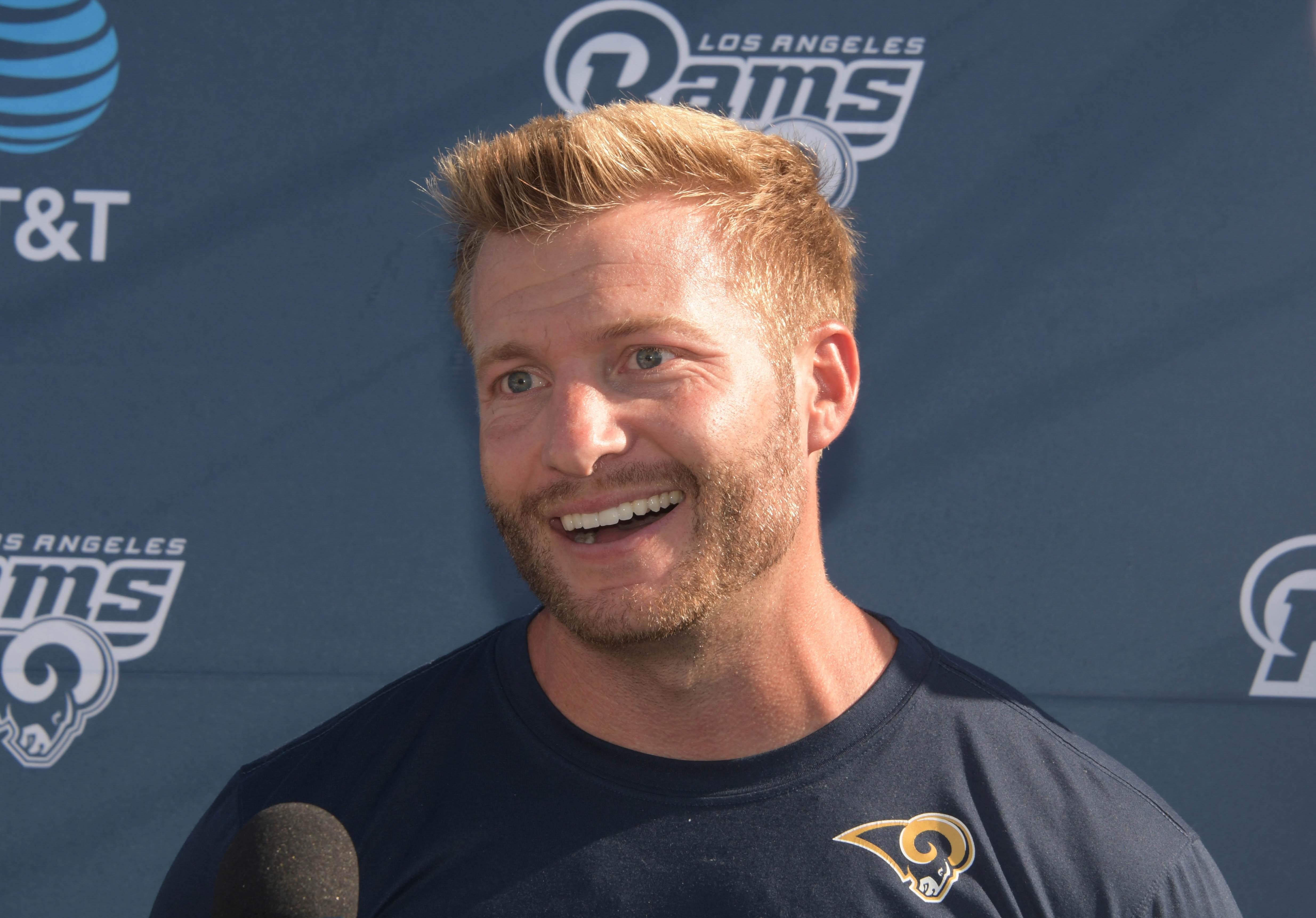 Los Angeles Rams HC Sean McVay