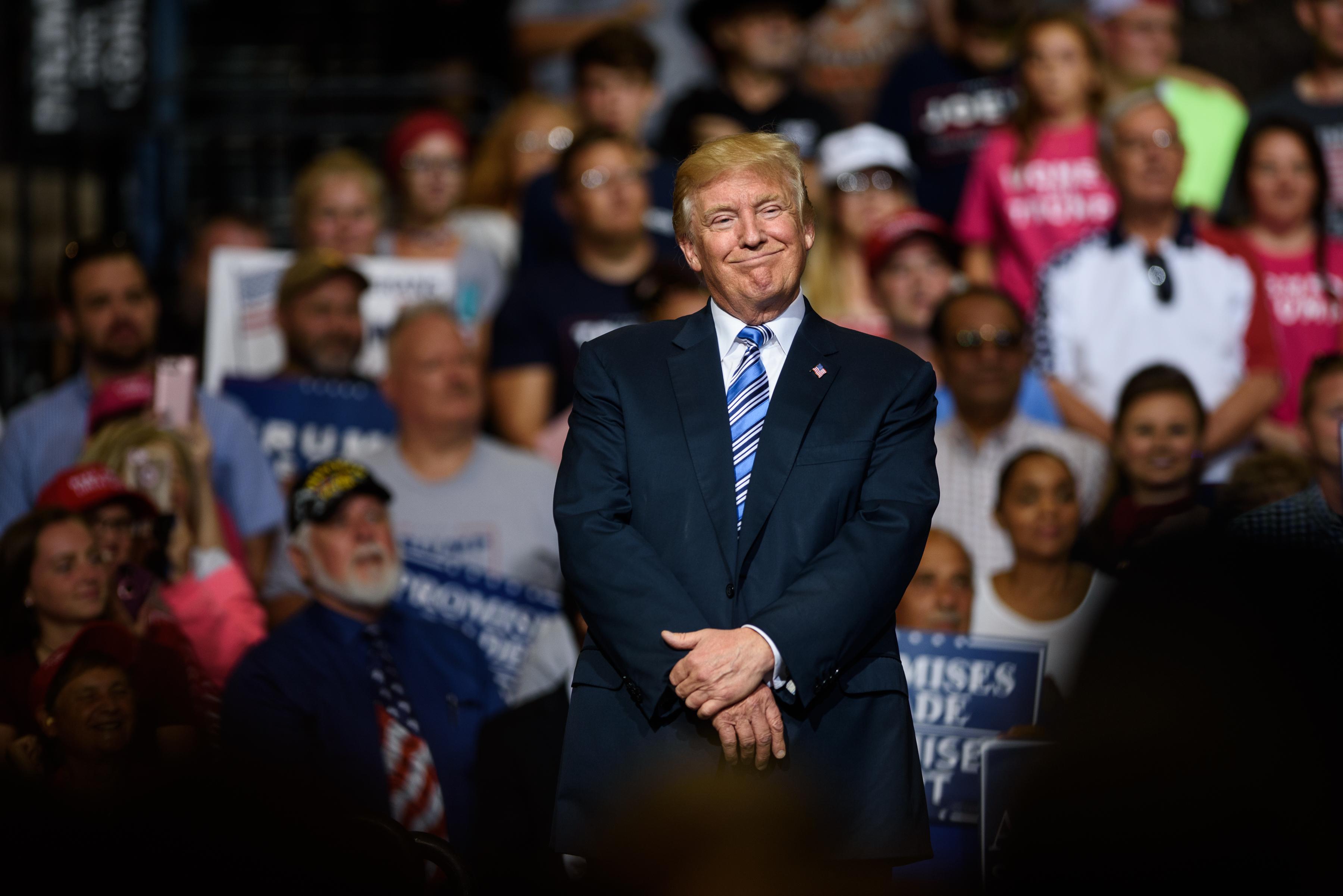 President Trump Holds Rally In Huntington, West Virginia