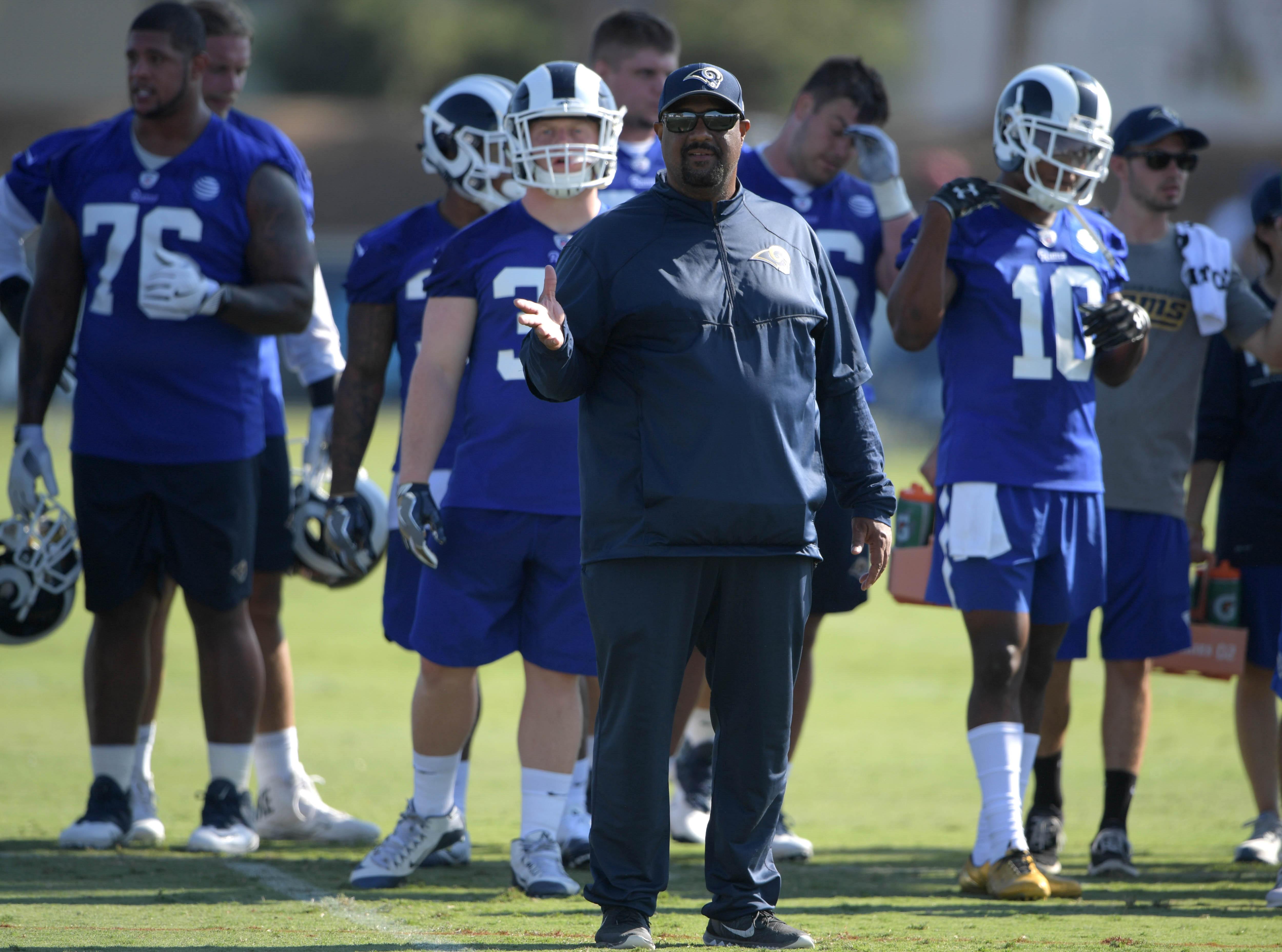 Los Angeles Rams RB Coach Skip Peete