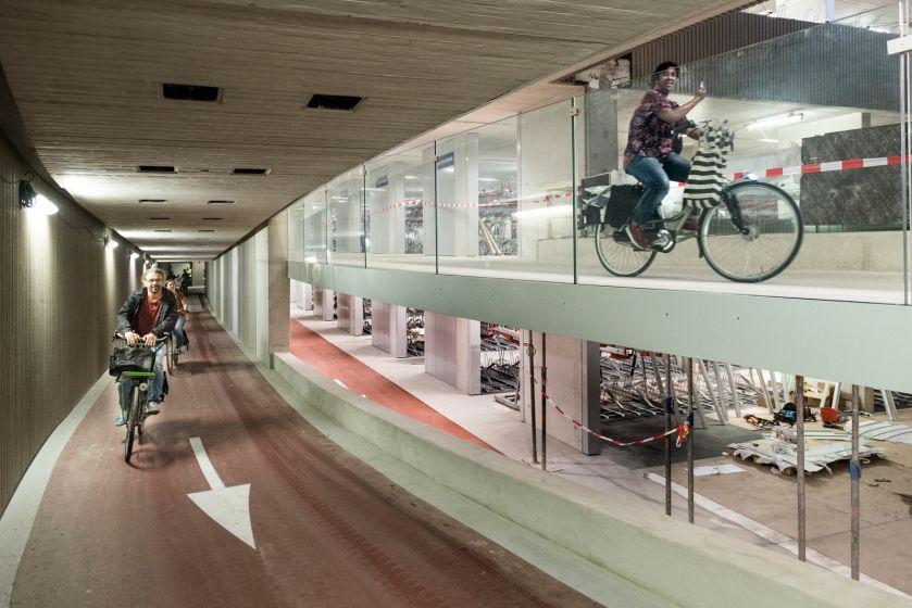 Netherlands opens world's largest bike parking garage