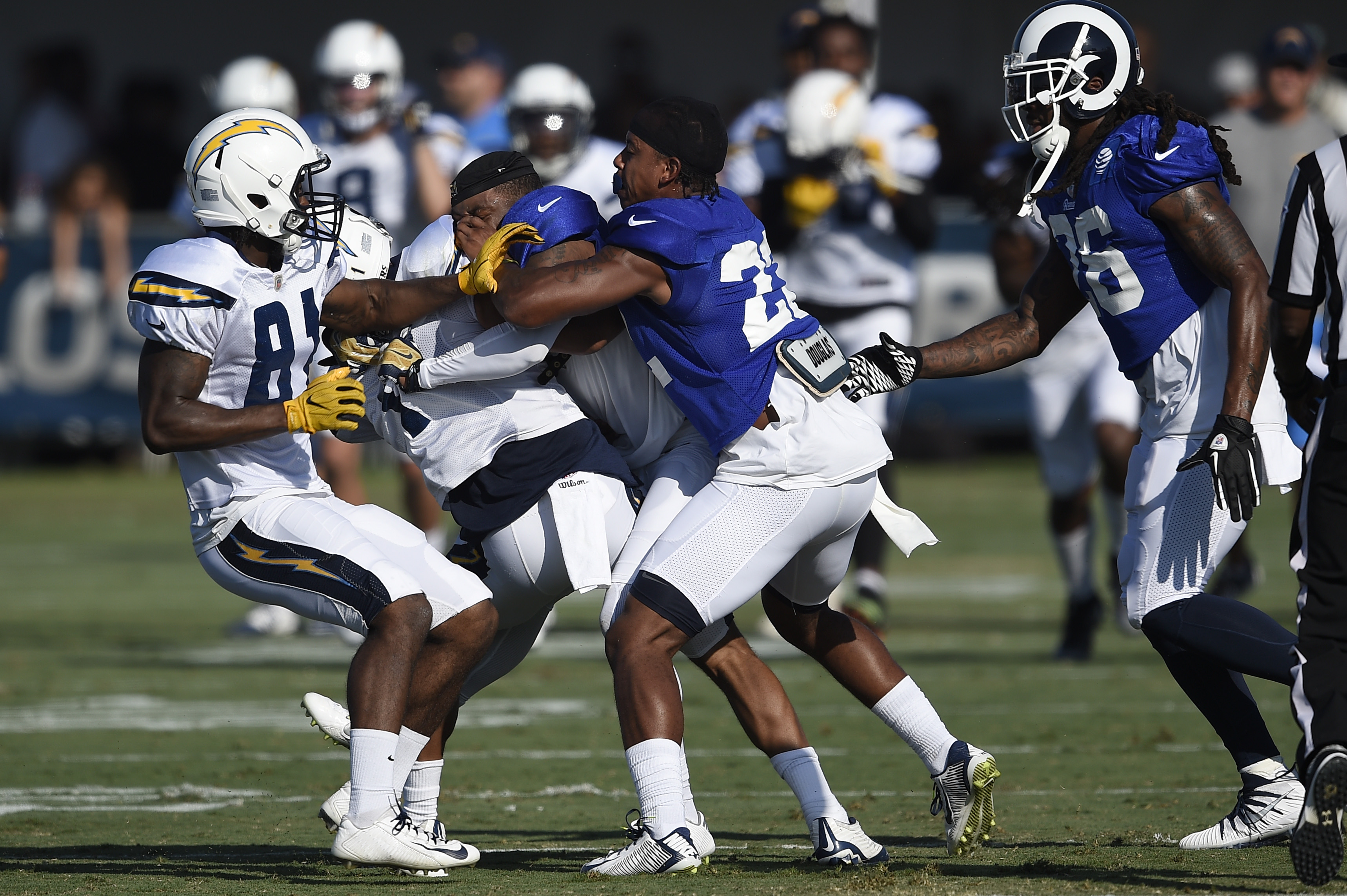 Los Angeles Rams and Los Angeles Chargers Practice