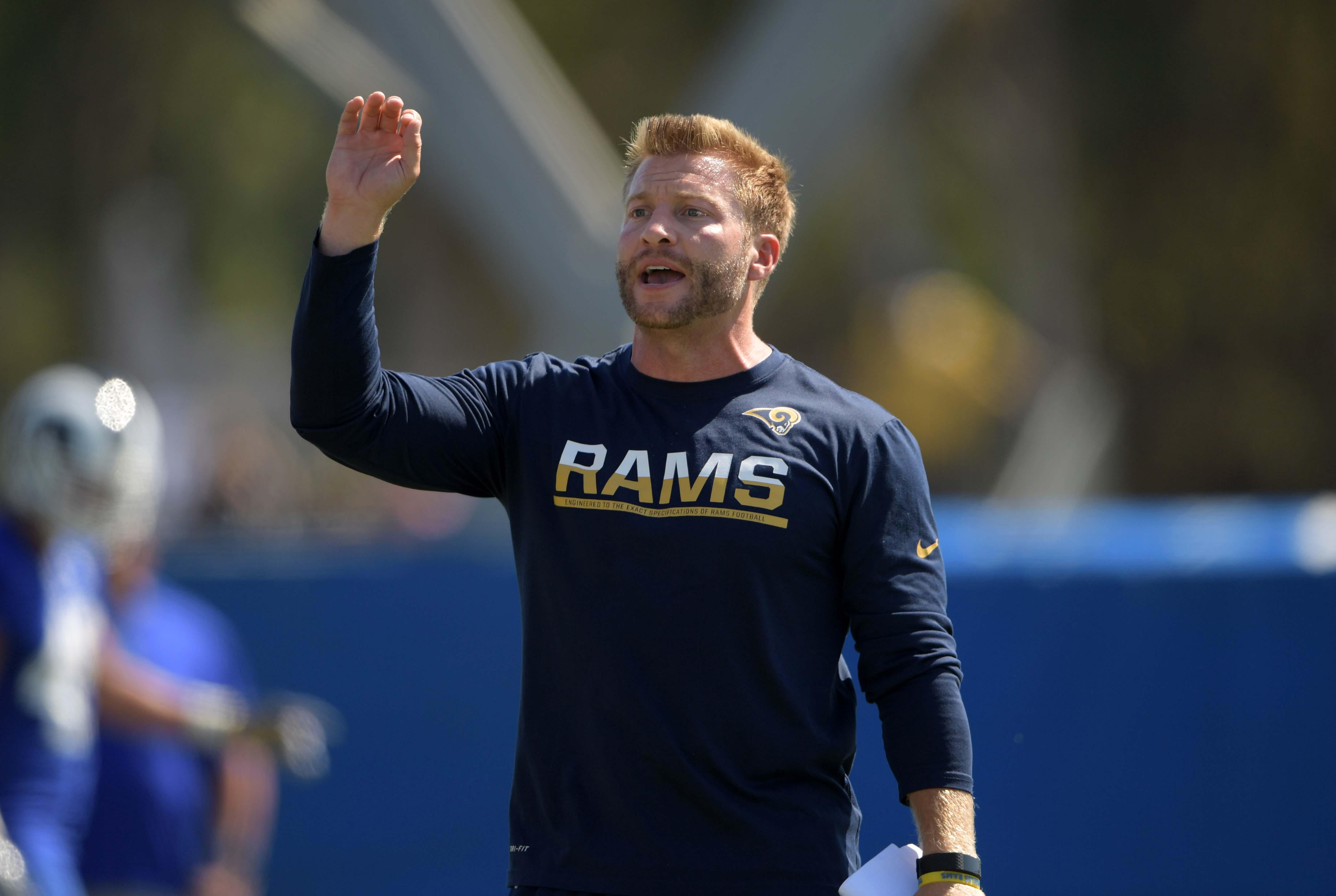Los Angeles Rams Head Coach Sean McVay