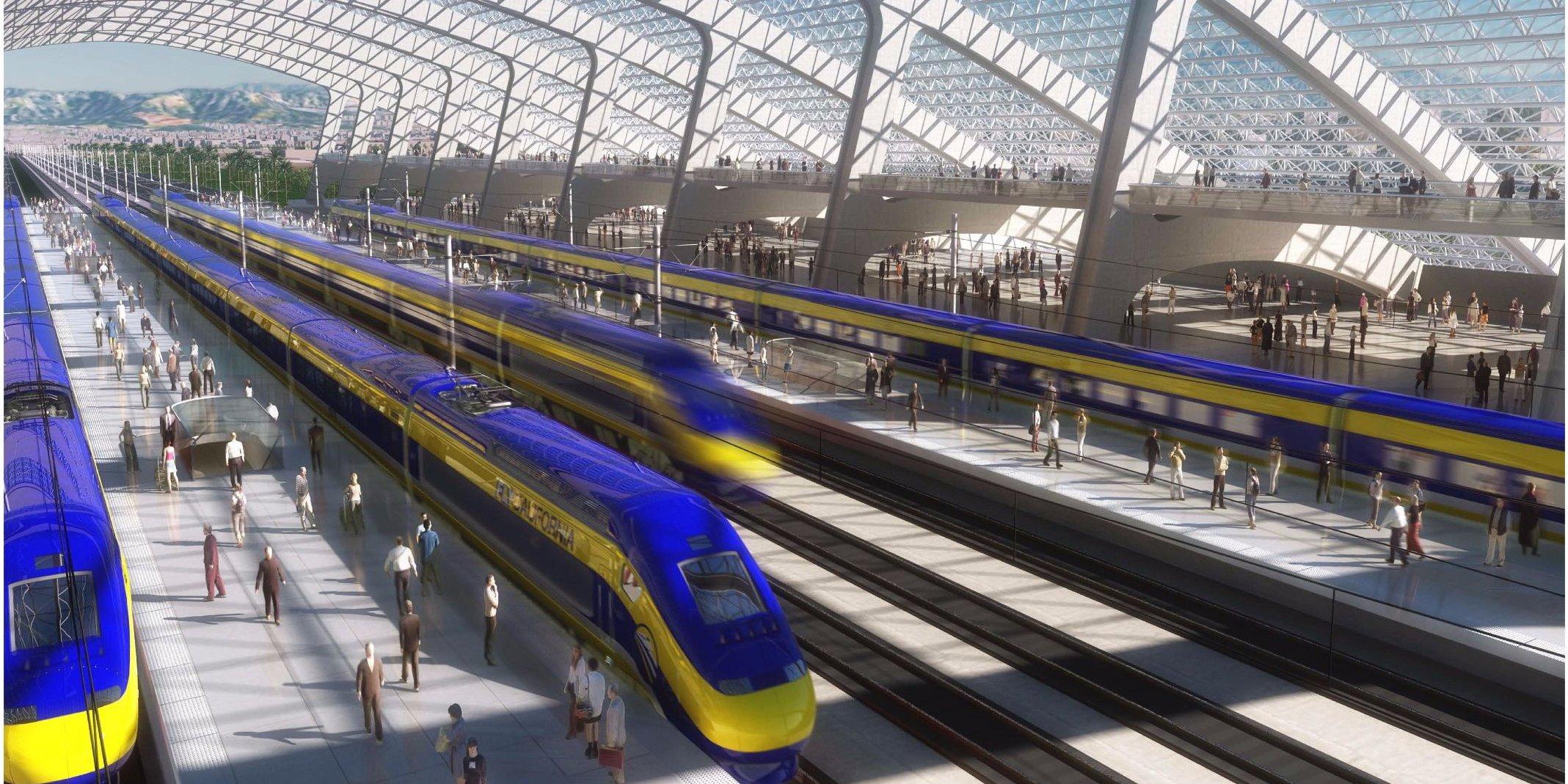 Map Of California High Speed Rail.Map Shows High Speed Rail S Sluggish Progress Curbed Sf