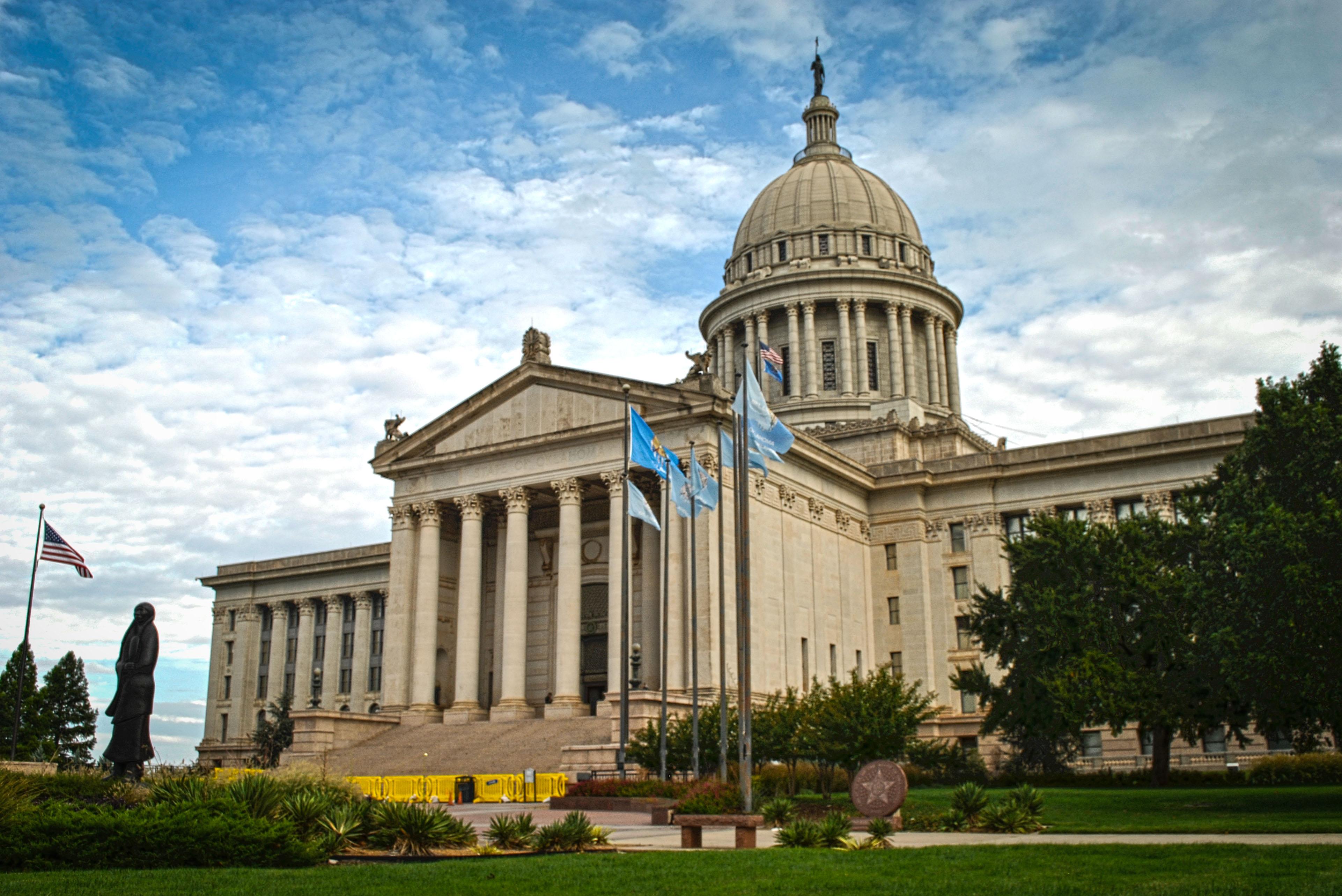 The Oklahoma Capitol building.