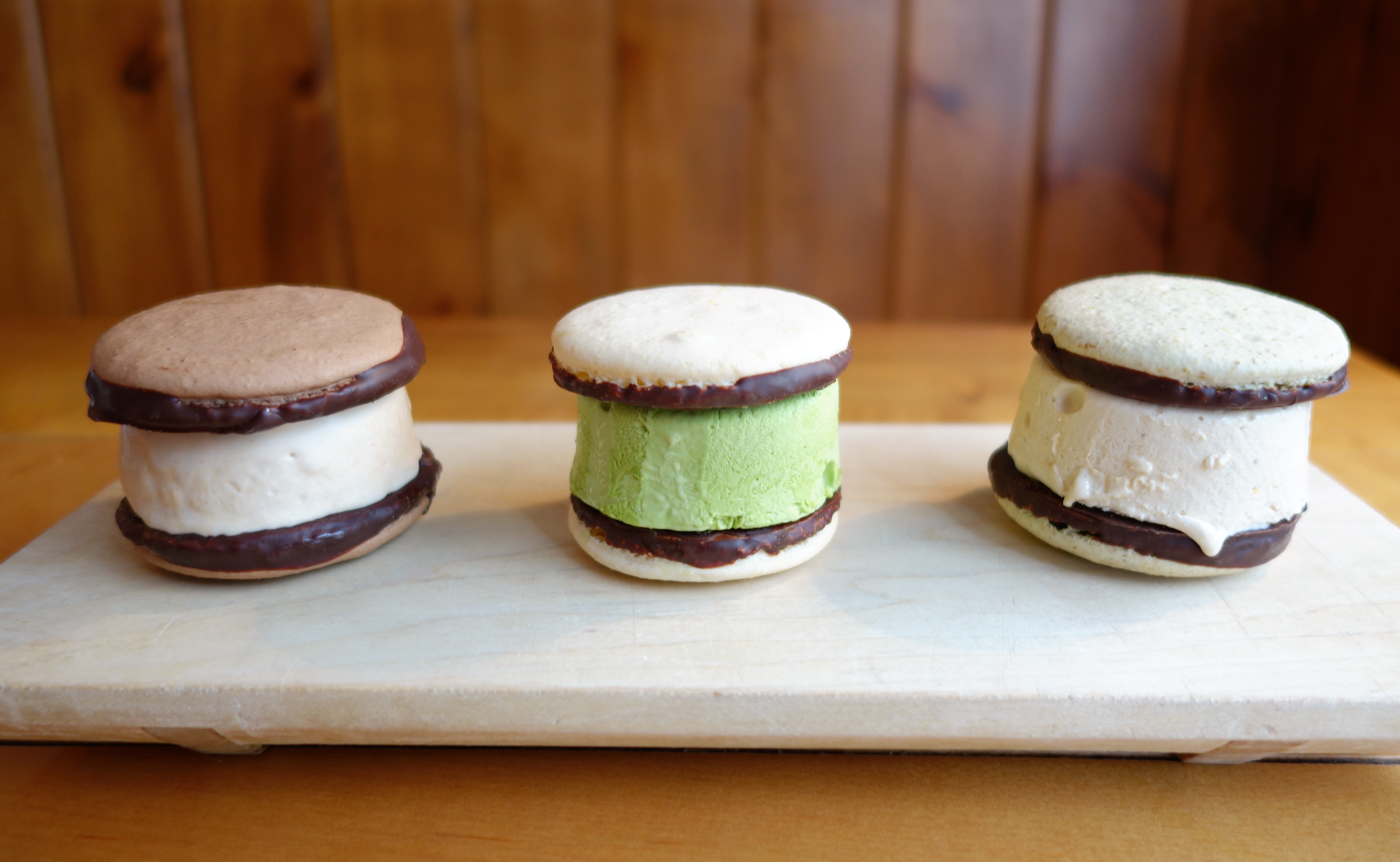Macaron ice cream sandwiches at L.A. Burdick