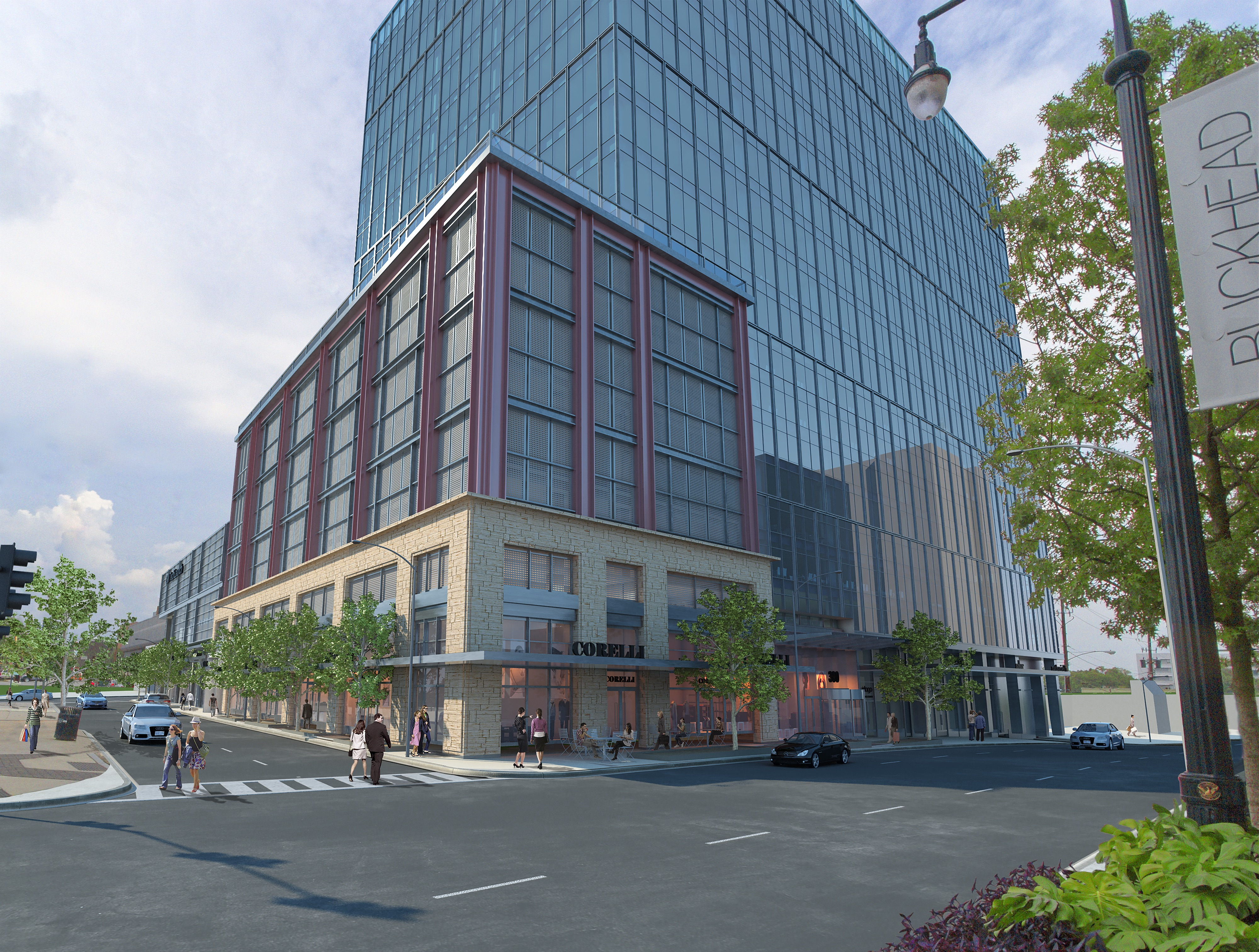 A new office building planned in the Buckhead Village.