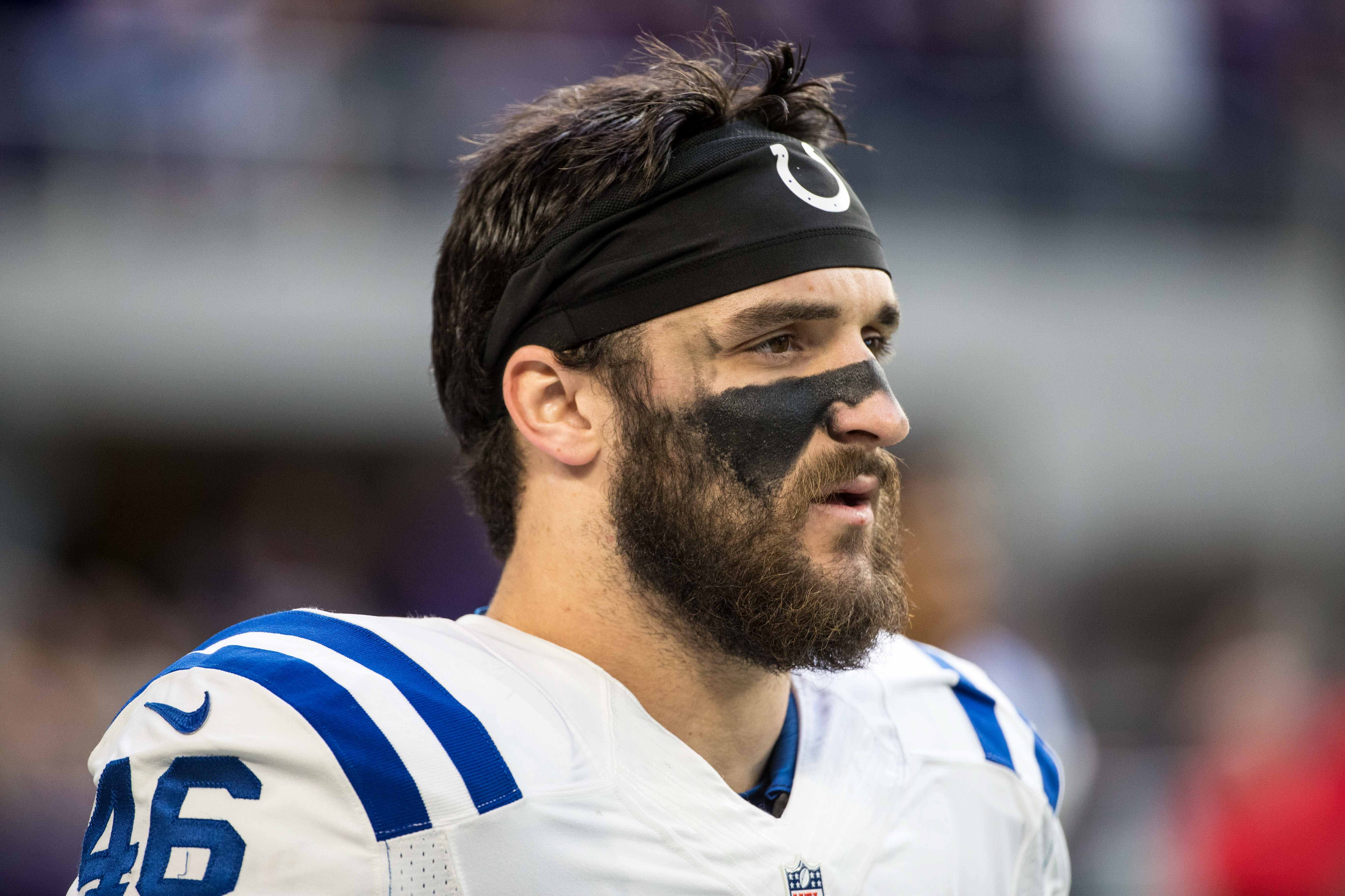 cheap for discount 34a8b 2a5c5 Colts' Luke Rhodes Drew Amazing Comparison on his College ...