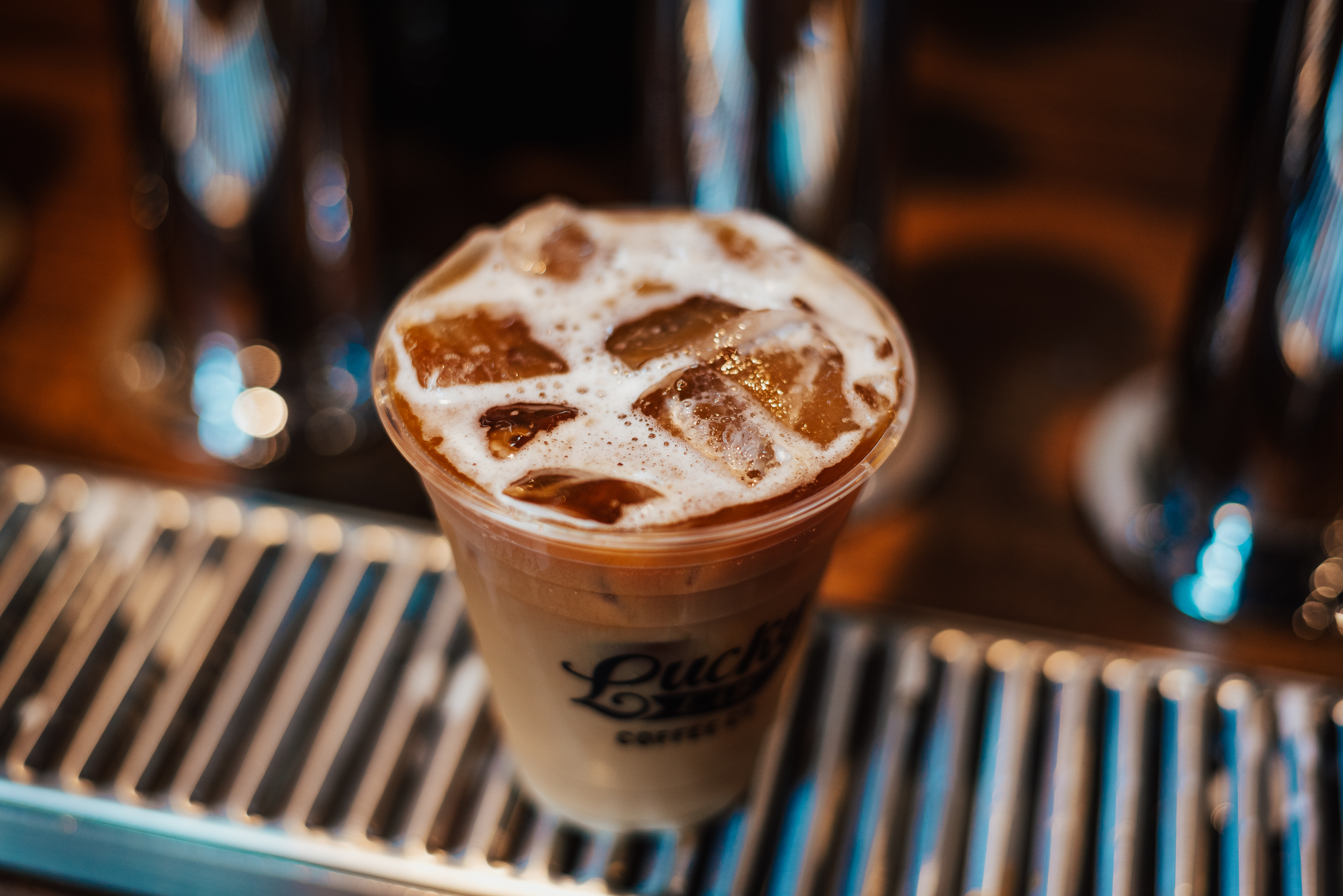 Iced coffee from Lucky Lab
