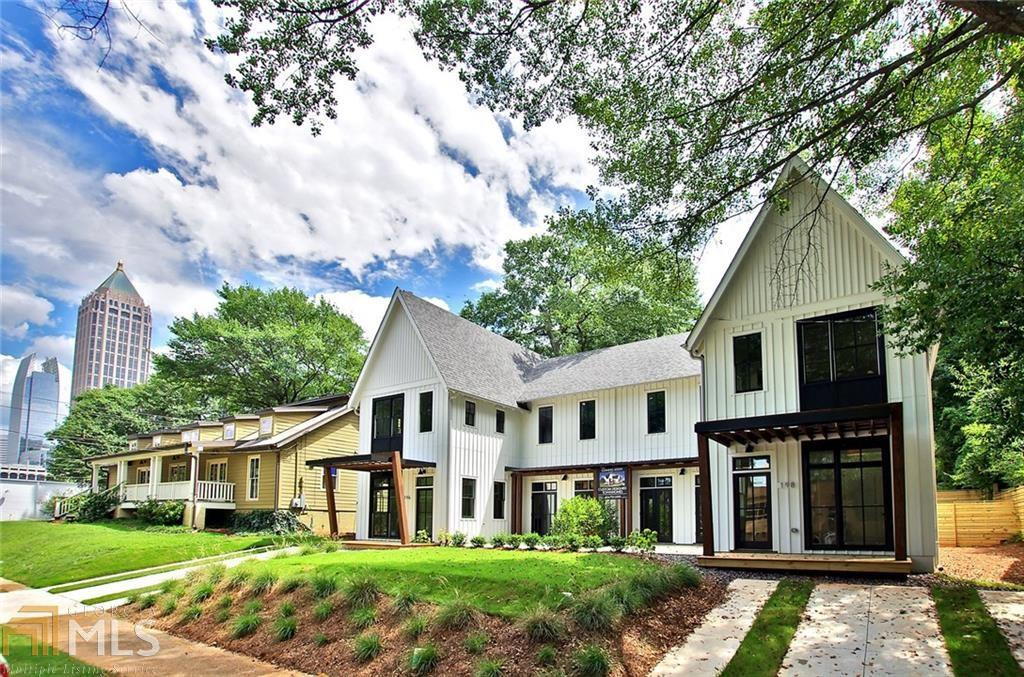 Two modern farmhouse townhomes in the shadow of Atlanta's Atlantic Station.