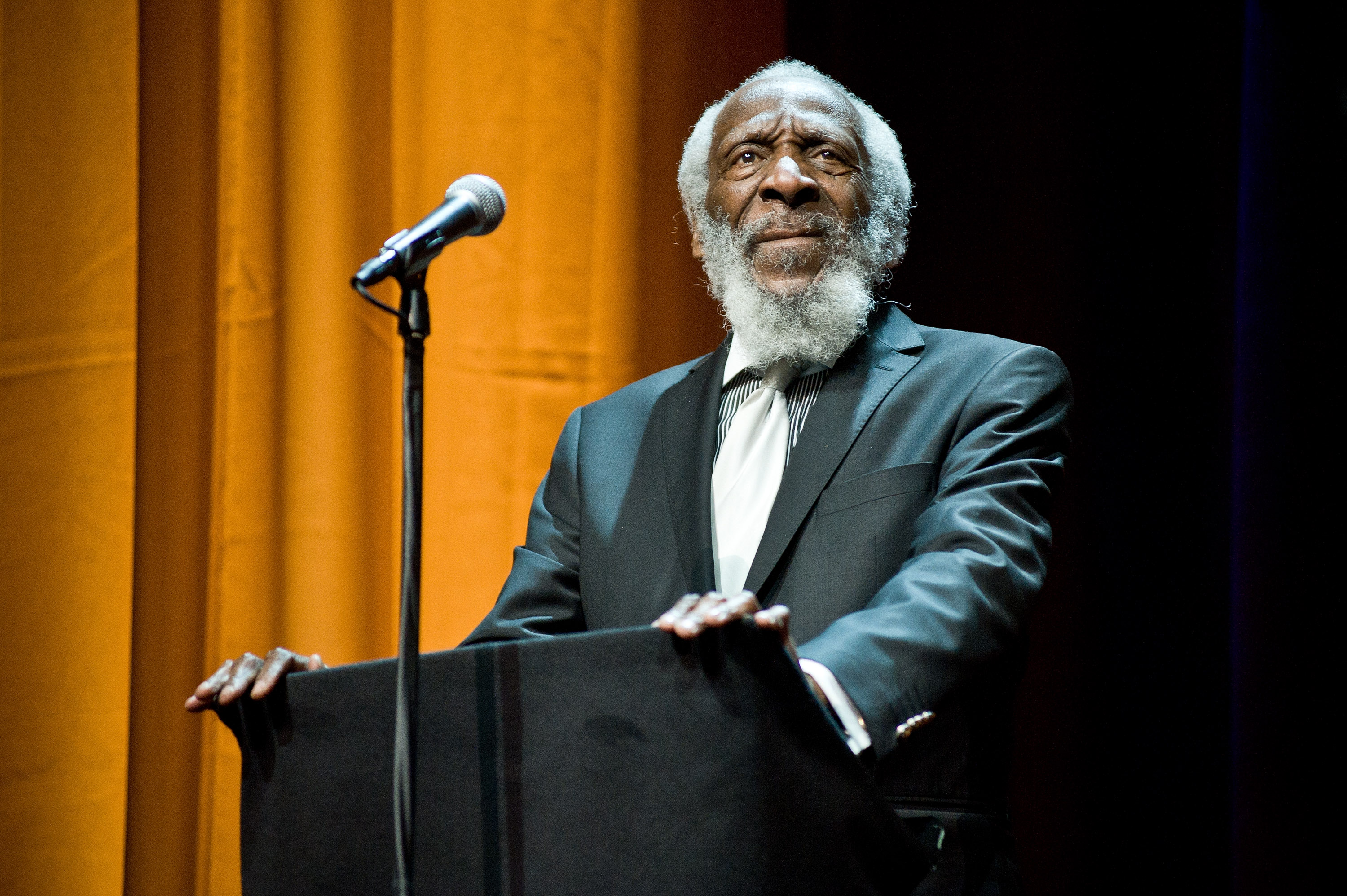 Humorist and activist Dick Gregory