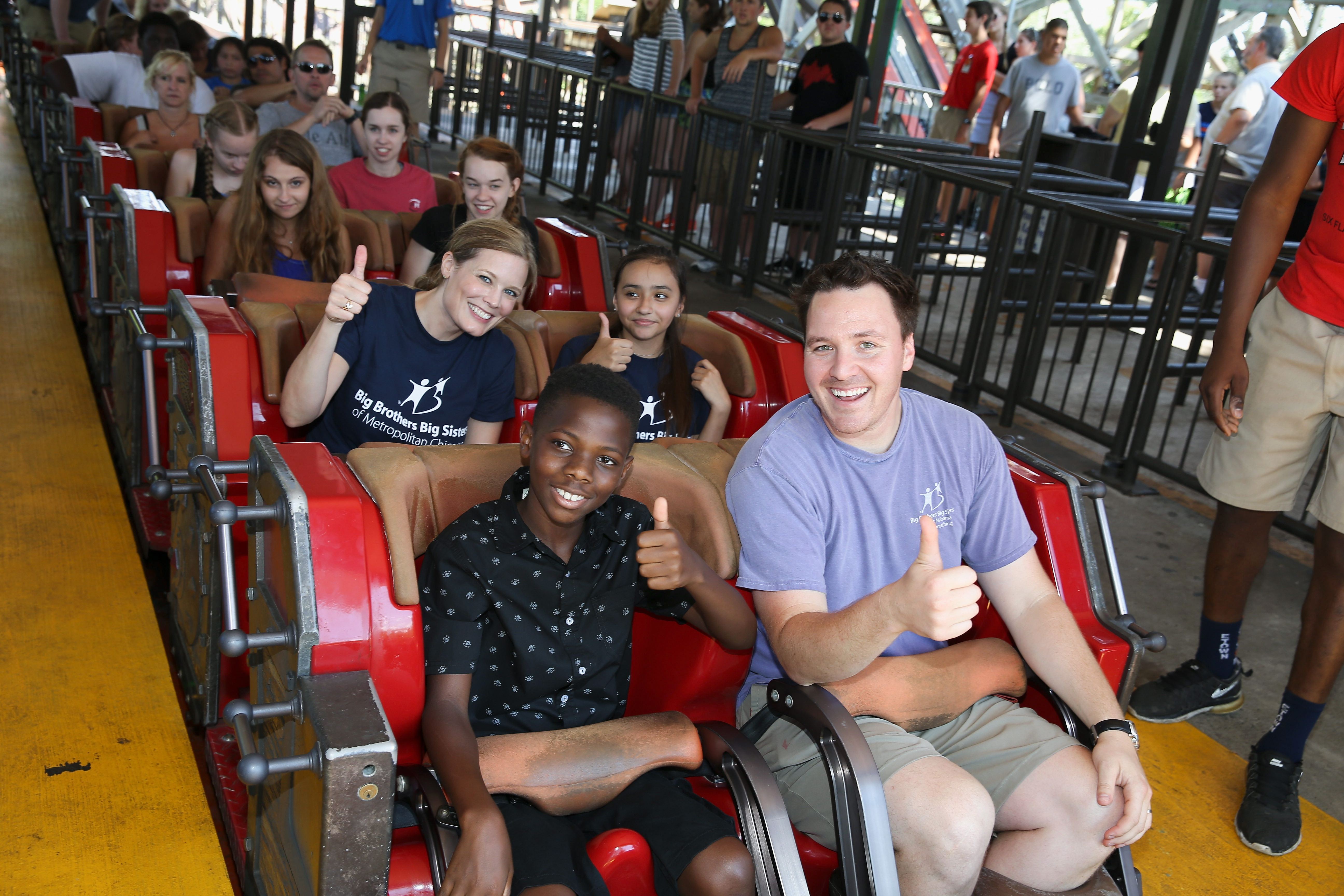 Chicago Big Brothers, Big Sisters Experience Thrill of First Roller Coaster Ride with Help of Wyndham Rewards
