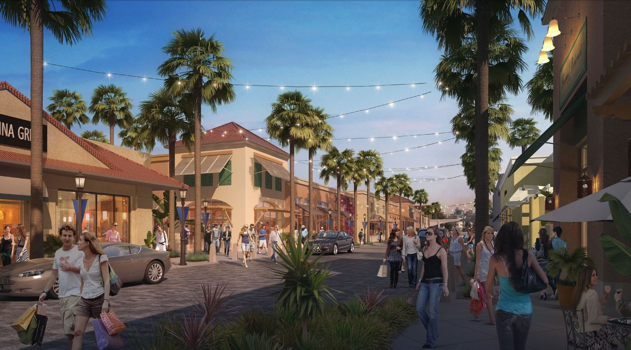 Rendering of the new mall