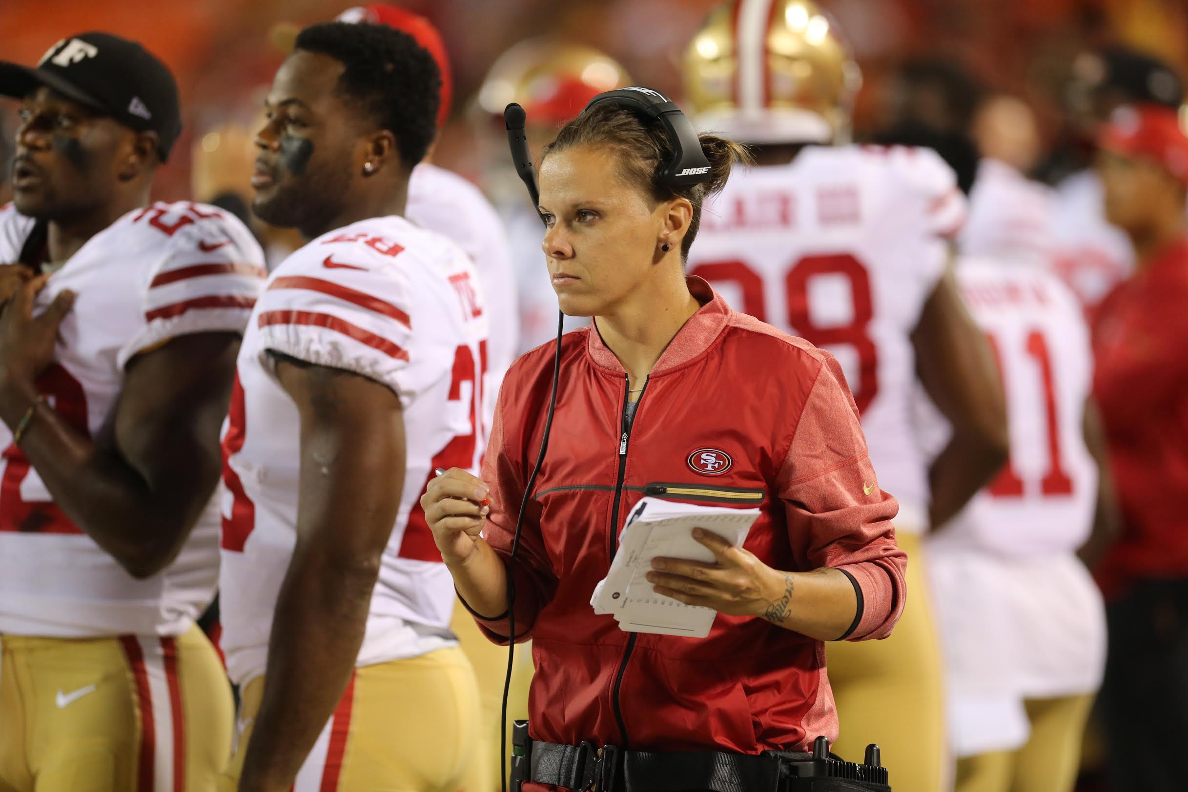 c7bc6e12 San Francisco 49ers assistant Katie Sowers is first out LGBT coach ...