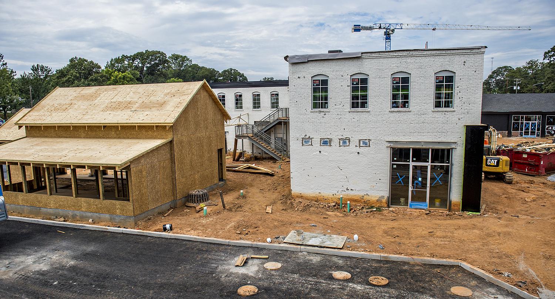 An overview photo of Larkin On Memorial development on Memorial Drive in Atlanta.