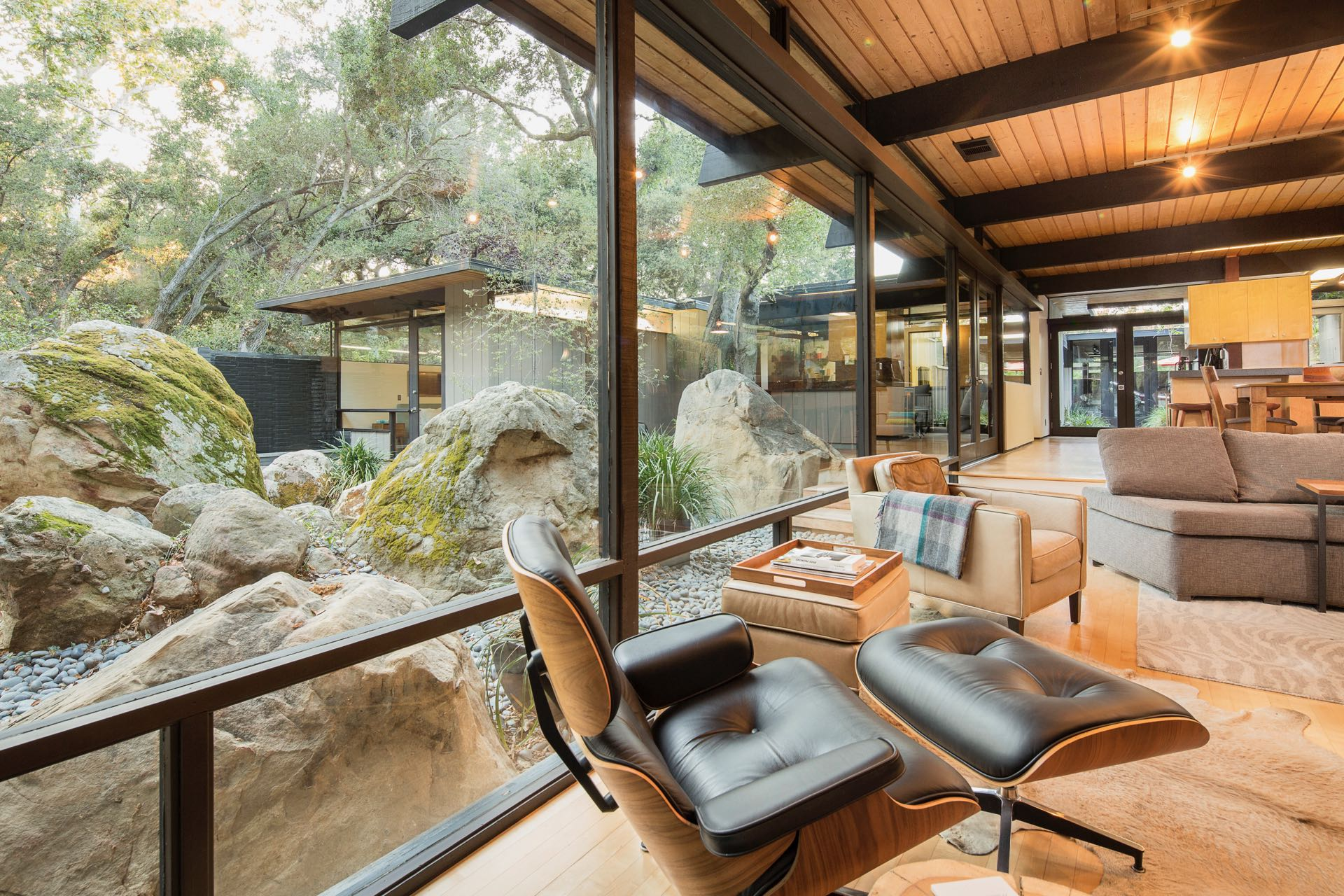 For $1.7M, a handsome Calabasas post and beam nestled among boulders
