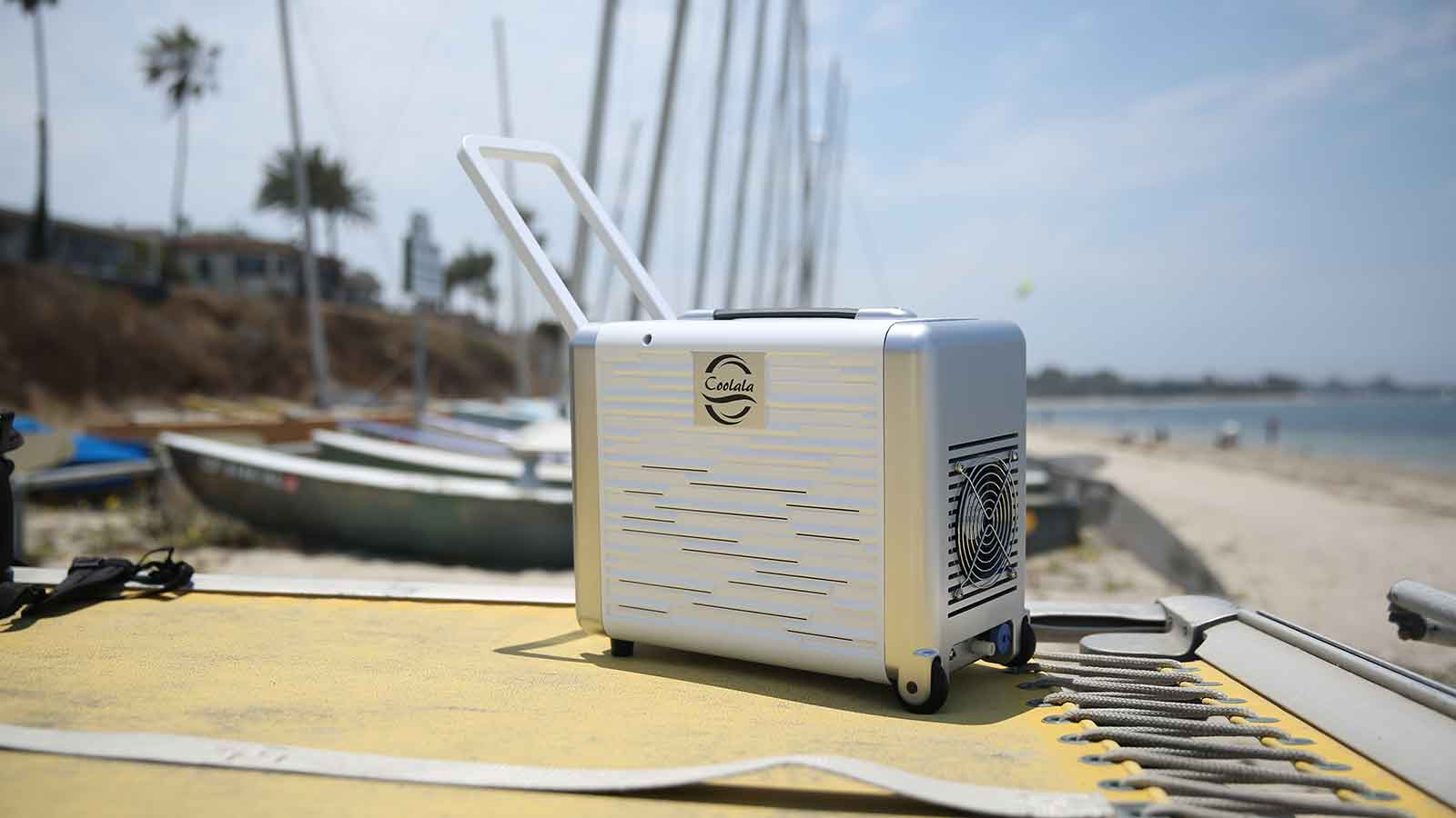 Coolala is the world's first portable, solar-powered A/C unit