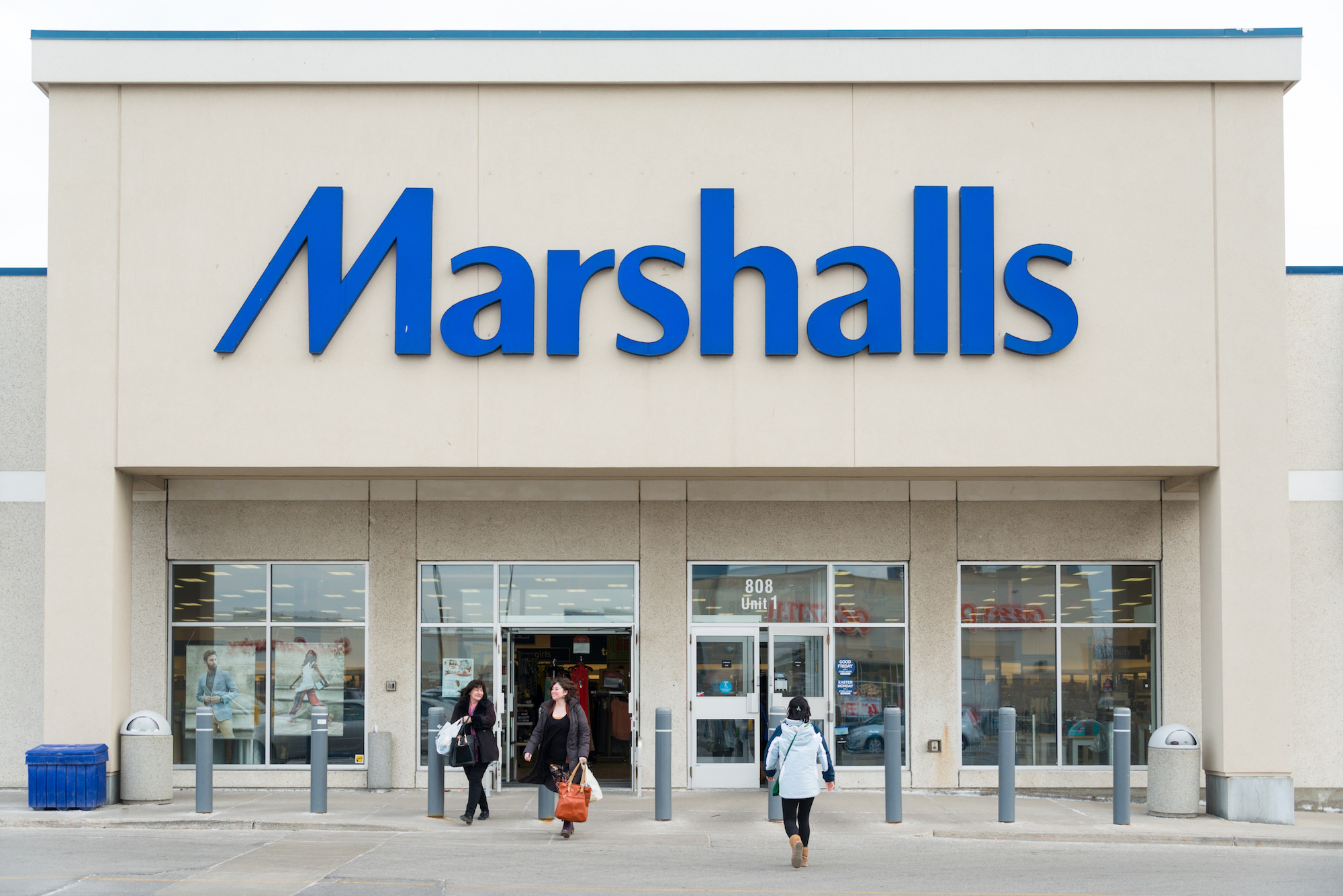 The exterior of a Marshalls store