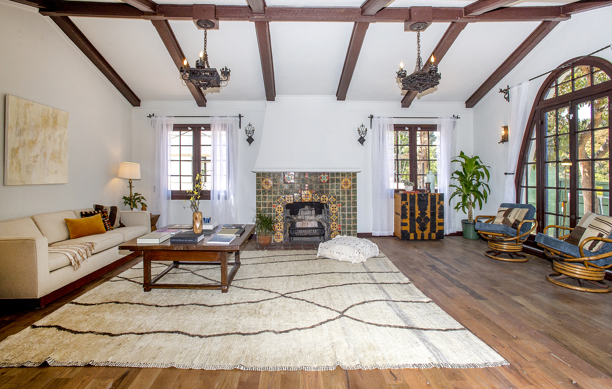 eagle rock los angeles curbed la dramatic spanish style house with painted ceilings asks 1 6m in eagle rock