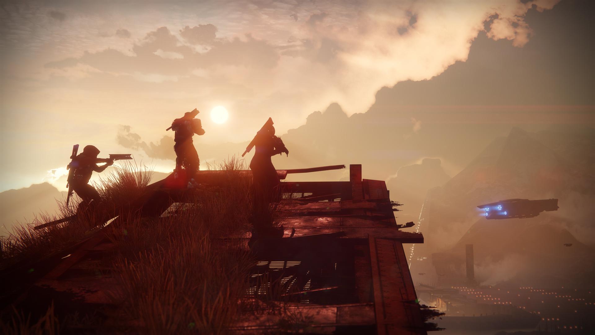 Destiny 2 - as the sun sets, three Guardians go on an Adventure