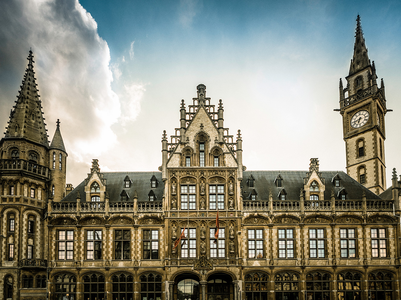post office turned hotel in Ghent