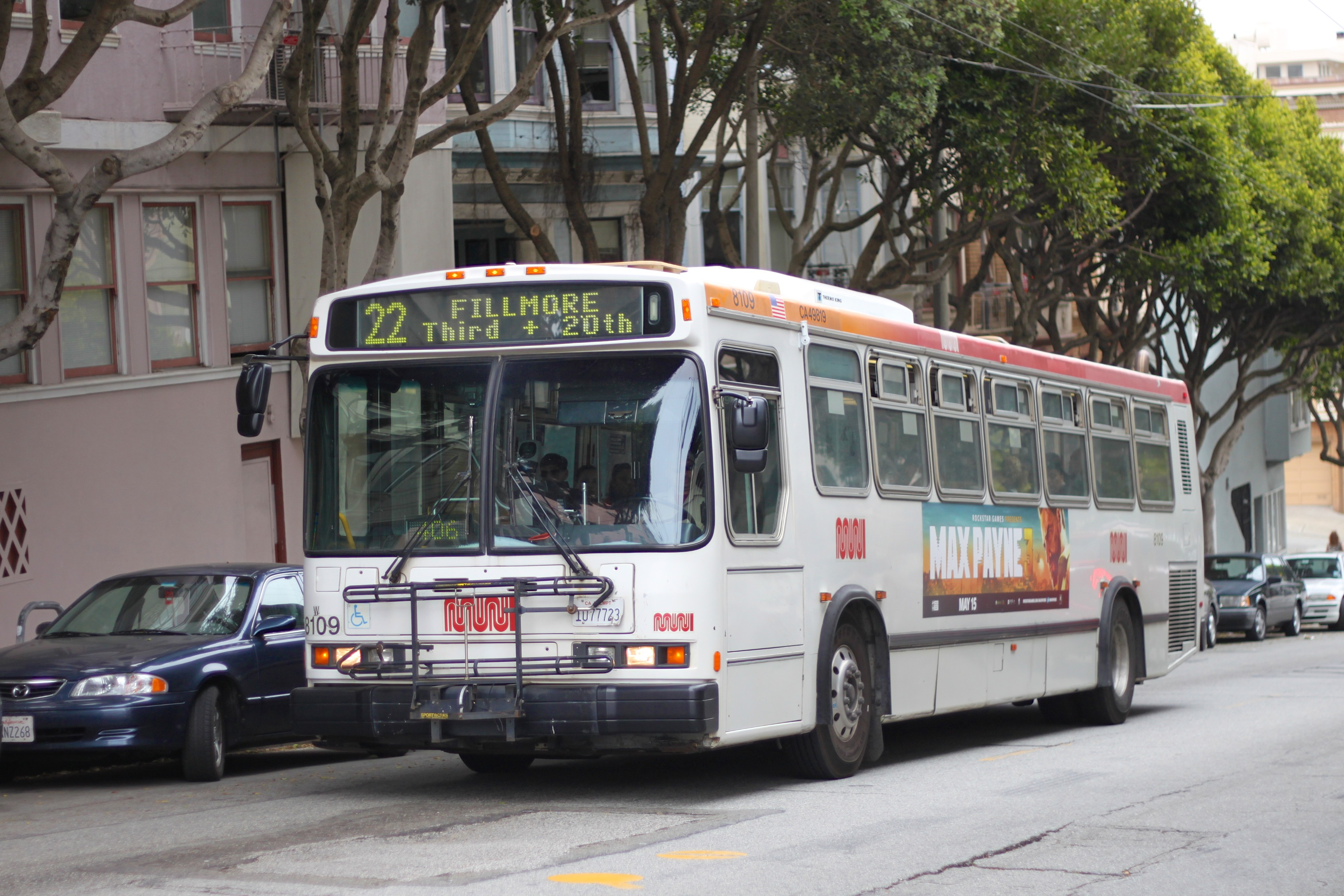 A 22 Fillmore bus.