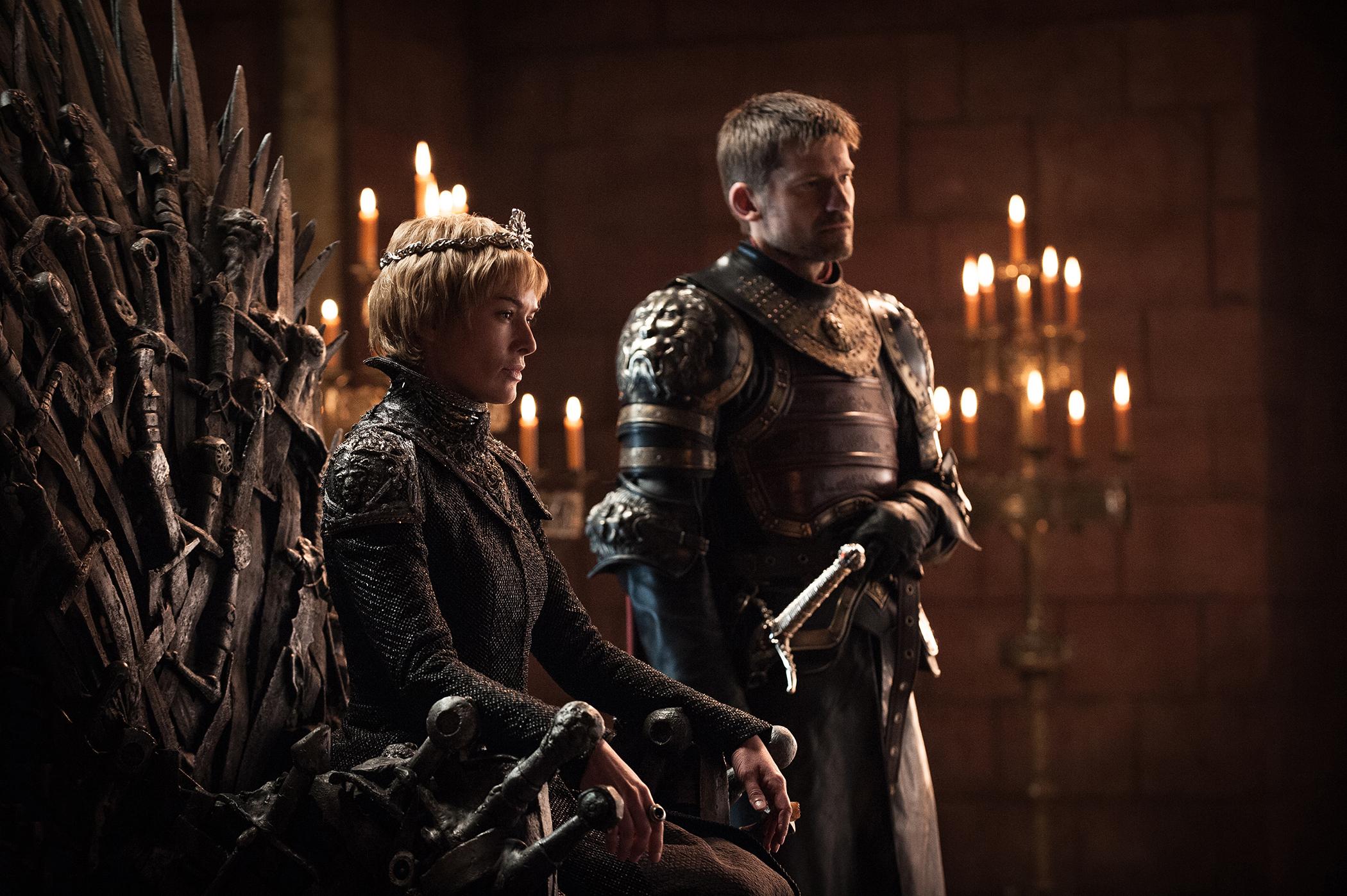 Lena Headey as Cersei Lannister and Nikolaj Coster-Waldau as Jaime Lannister in season 7 of Game of Thrones.