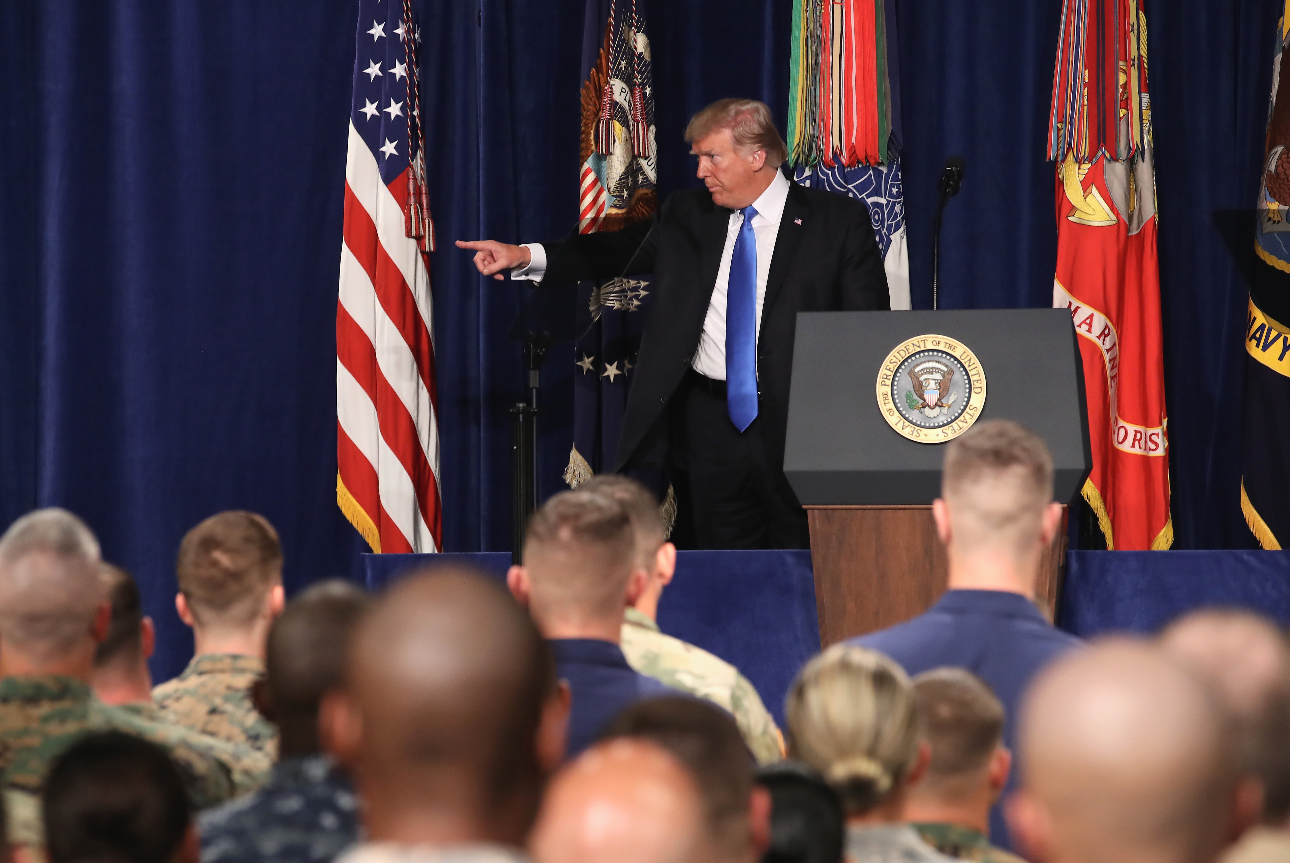 President Trump Addresses The Nation On Strategy In Afghanistan And South Asia From Fort Myer In Arlington