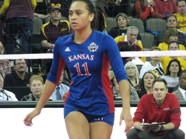KU Volleyball Final Four Omaha Ainise Havili