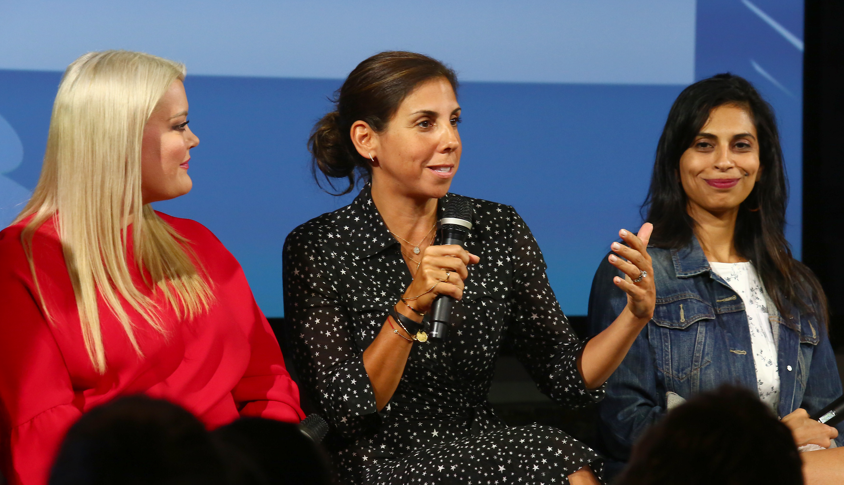 SoulCycle CEO Melanie Whelan participates in a panel event hosted by Keds & LOLA to celebrate Women's Equality Day on Wednesday, Aug. 23, 2017, in New York City.