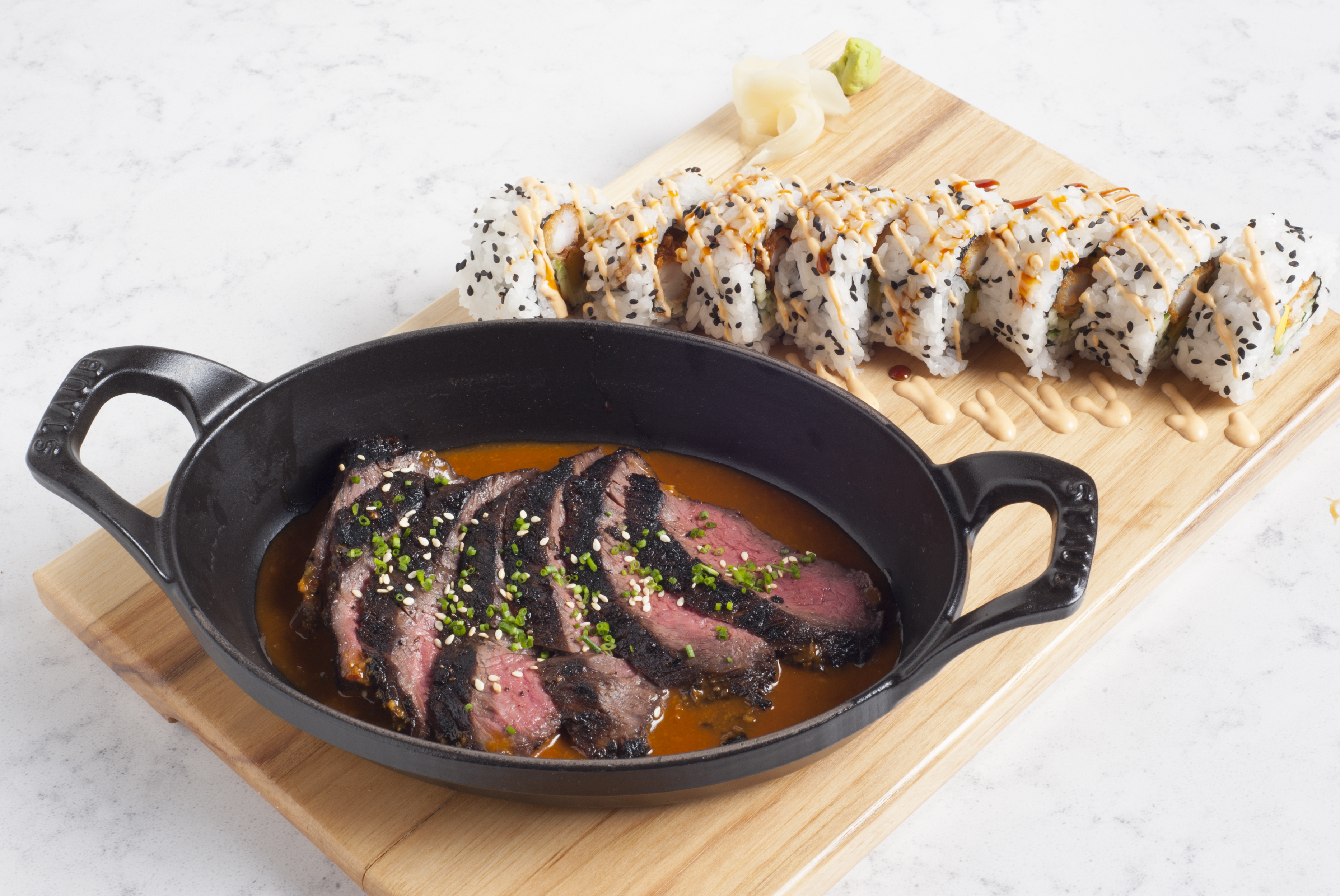 Steak and sushi at Earls Kitchen + Bar