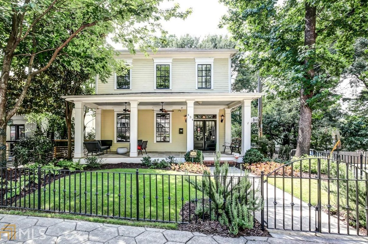 A large home for sale in the Inman Park section of Atlanta.