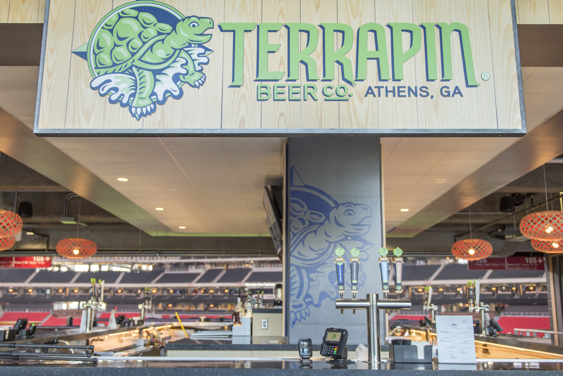 Terrapin's neighborhood bar inside Mercedes-Benz Stadium.