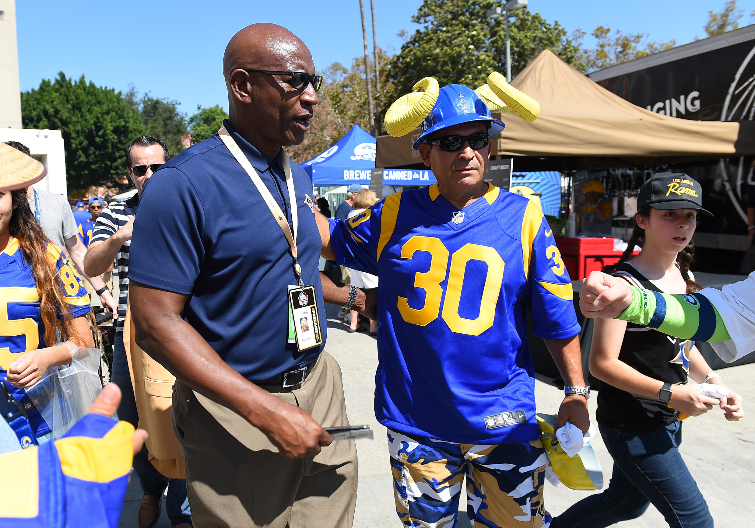 Former Los Angeles Rams RB Eric Dickerson