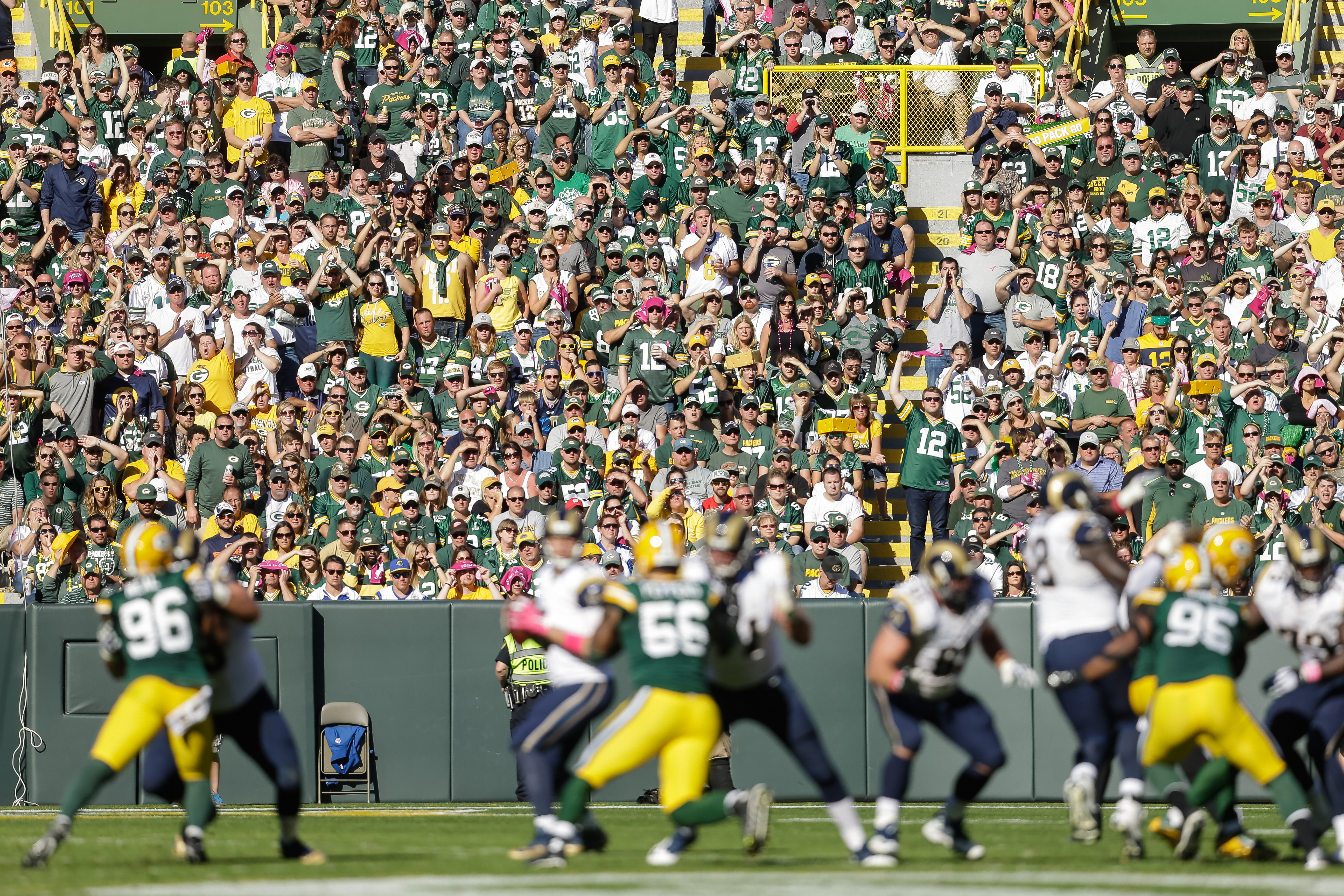 St Louis Rams at Green Bay Packers in 2015