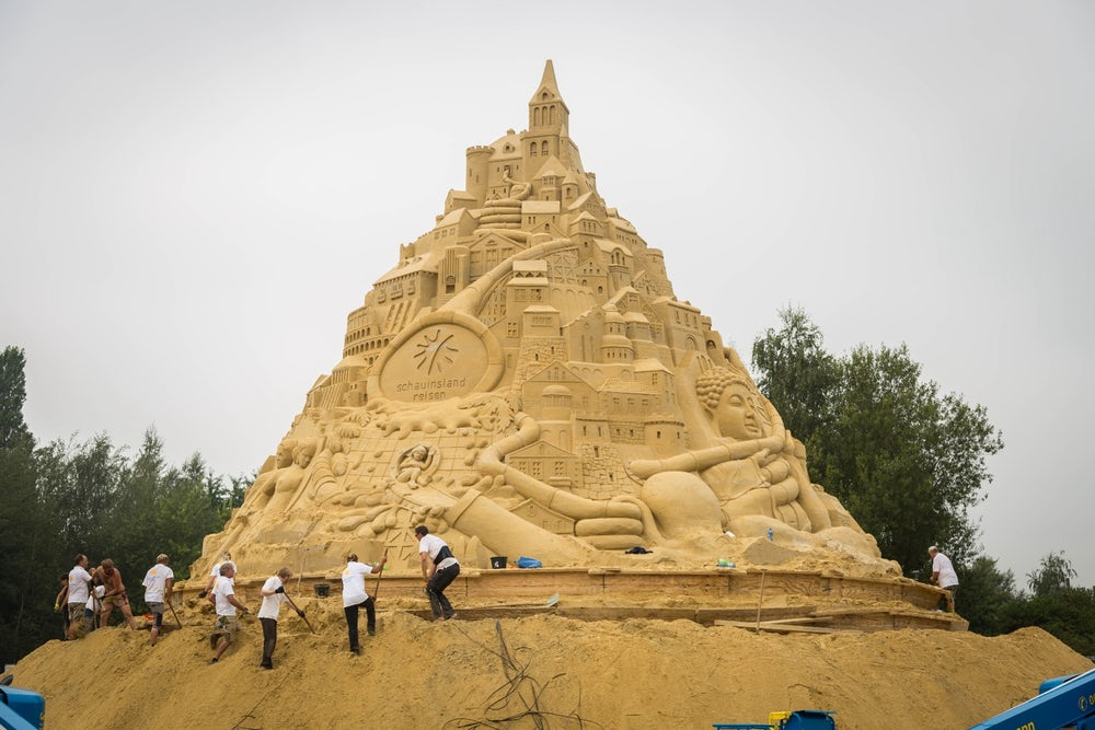 Sandcastle On Flipboard - This towering sand sculpture just broke the world record for the tallest ever sandcastle